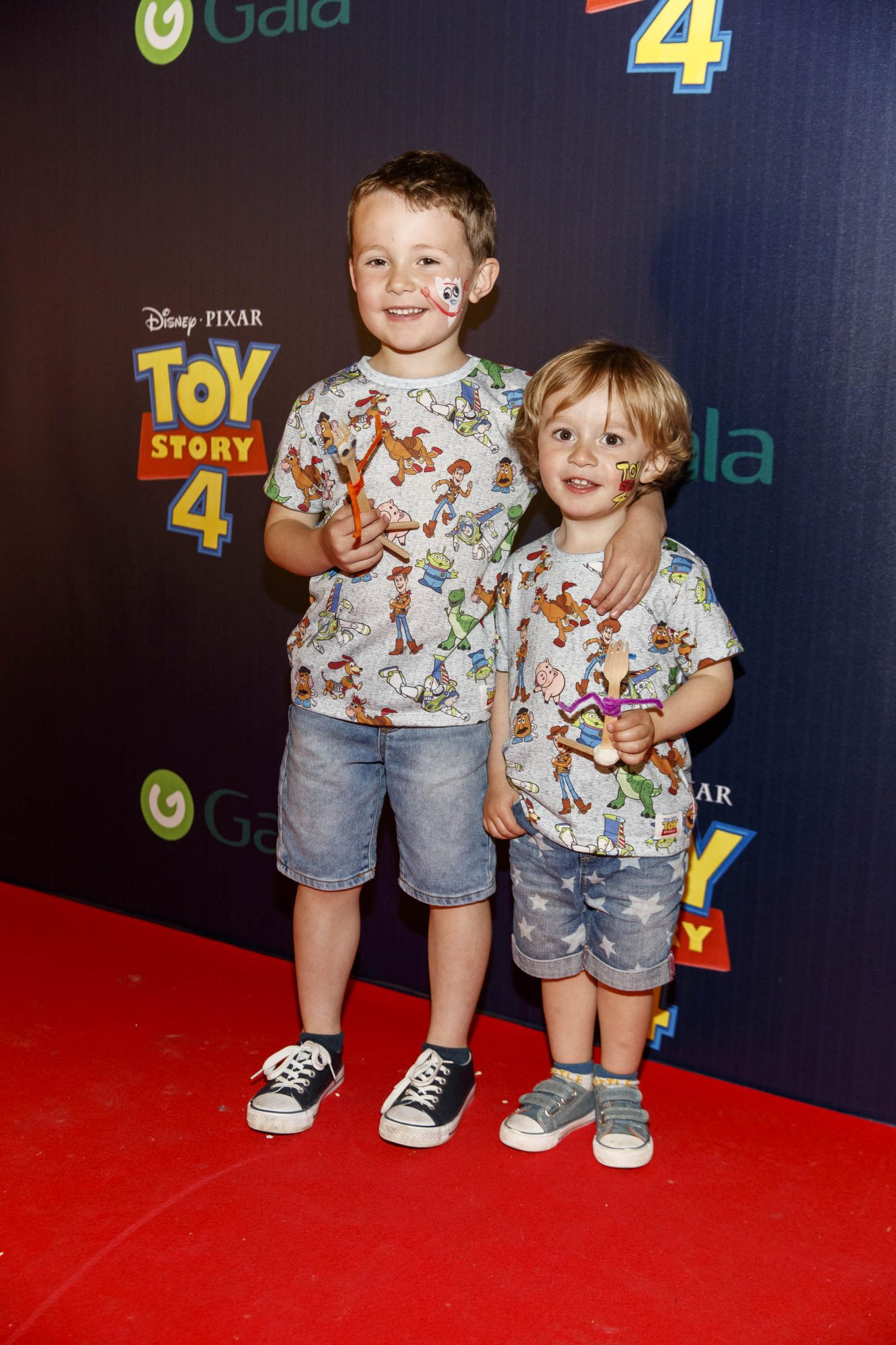Josh (5) and Max Fenton (2) pictured at the special event screening of Disney Pixar's TOY STORY 4 in the Light House Cinema Dublin. Picture: Andres Poveda