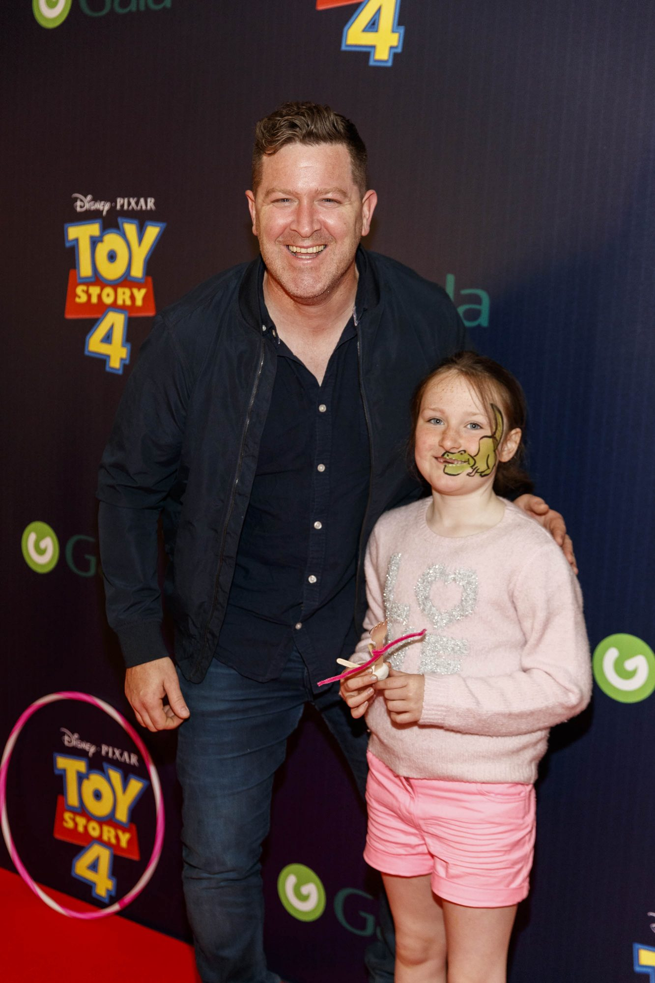 Maclean Burke and daughter Bow Belle pictured at the special event screening of Disney Pixar's TOY STORY 4 in the Light House Cinema Dublin. Picture: Andres Poveda