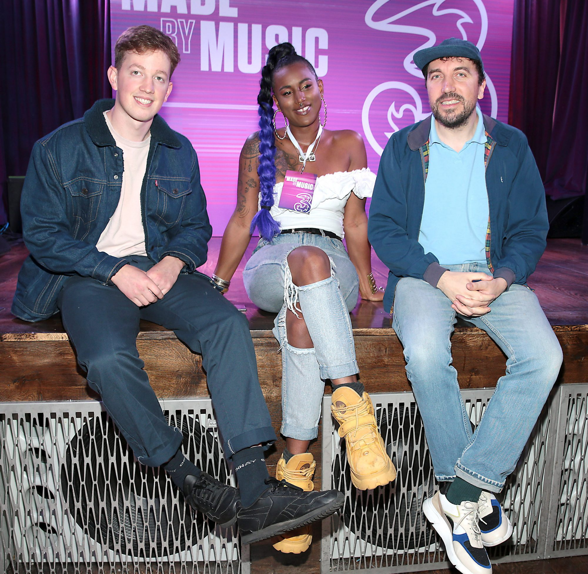 Artists: Kean Kavanagh, Fehdah and David Kitt pictured at the launch of Three's MadeByMusic 2019 at Lost Lane. Three Ireland has unveiled its plans for this year's 'Made by Music' initiative, an innovative move which seeks to demonstrate the human connections that music creates by collaborating with some of Ireland's best artists from the thriving Irish music scene. Picture: Brian McEvoy