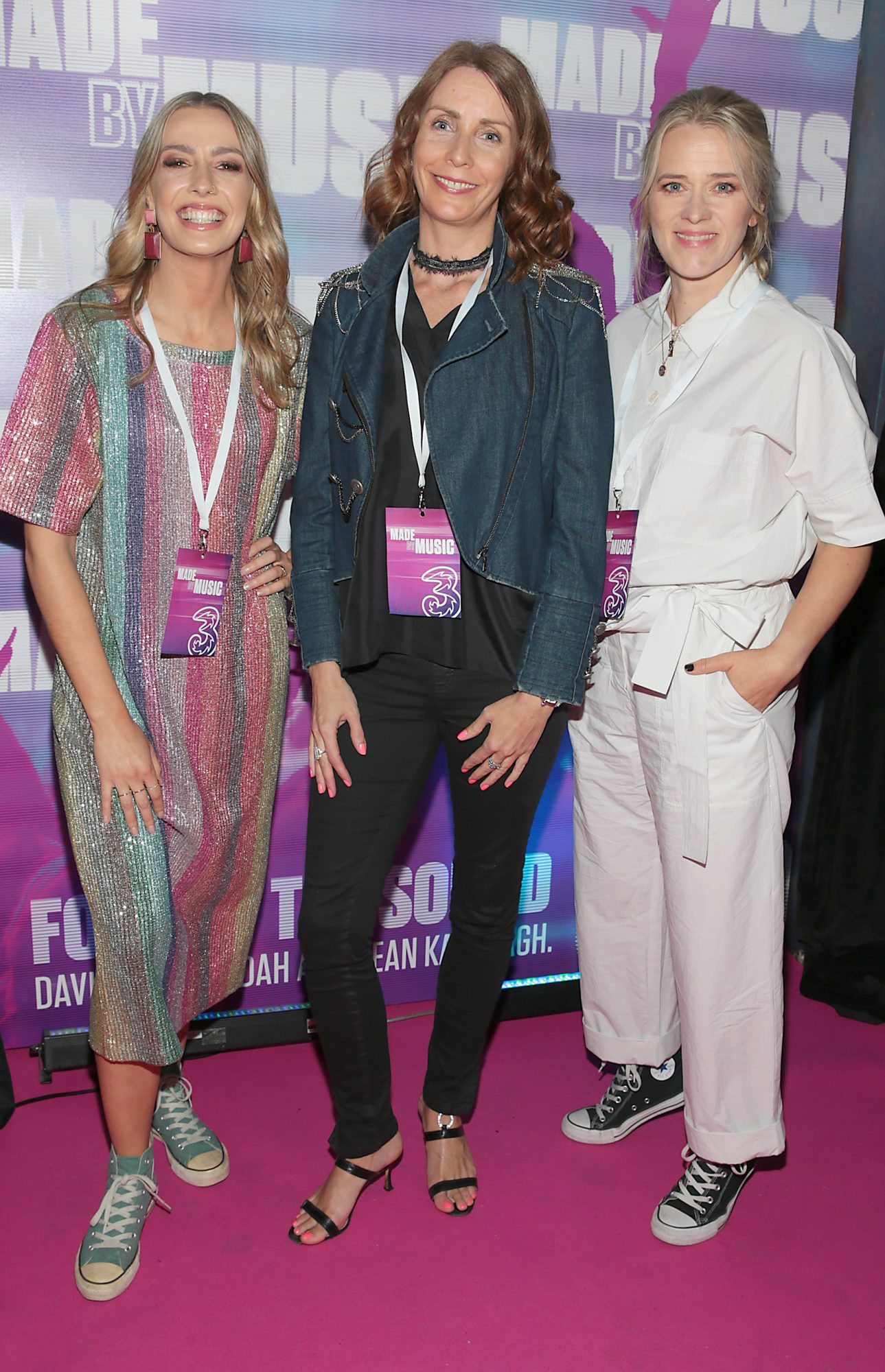 (L-R) Bláthnaid Treacy, Elaine Carey and Edith Bowman pictured at the launch of Three's MadeByMusic 2019 at Lost Lane. Three Ireland has unveiled its plans for this year's 'Made by Music' initiative, an innovative move which seeks to demonstrate the human connections that music creates by collaborating with some of Ireland's best artists from the thriving Irish music scene. Picture: Brian McEvoy