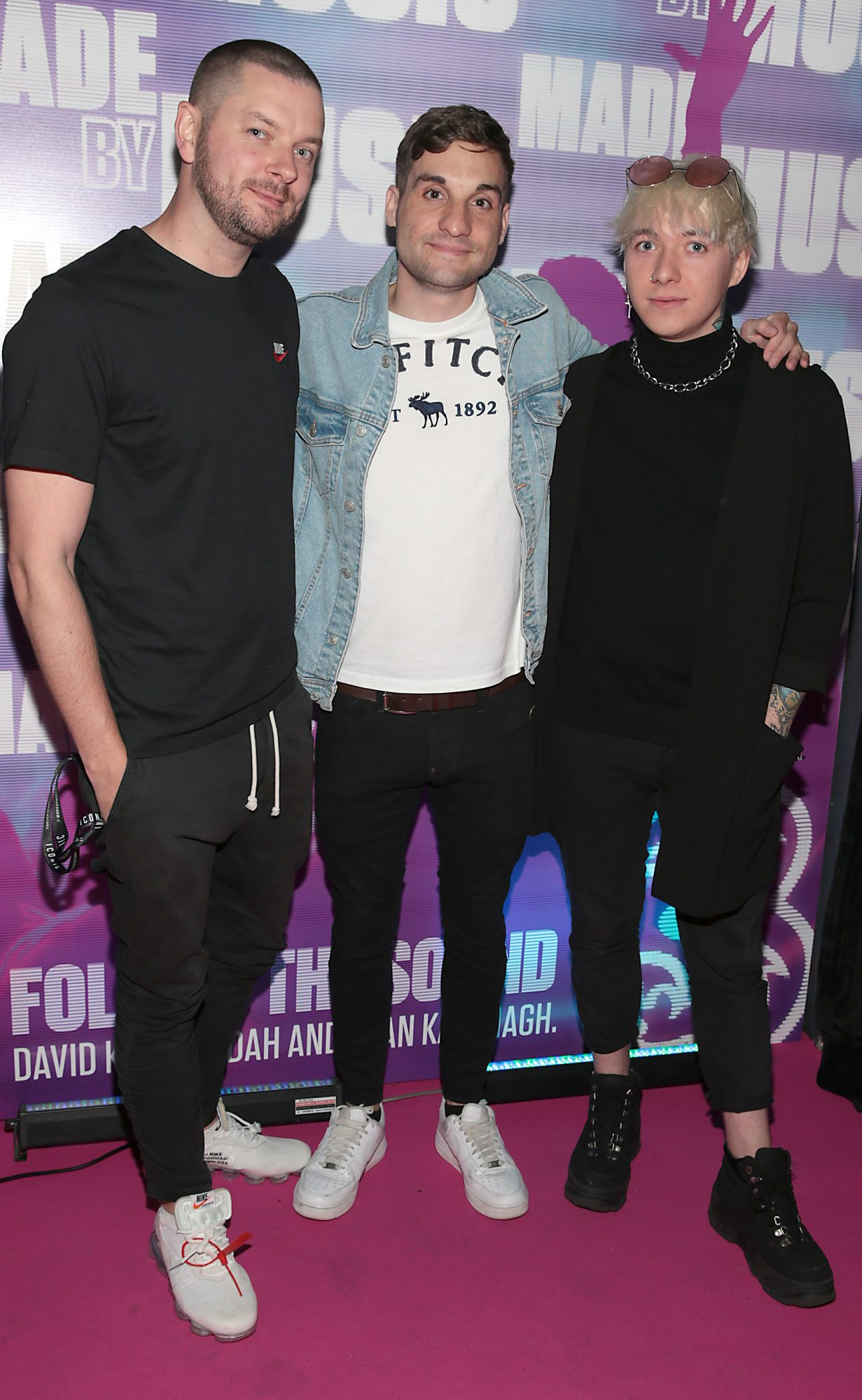 Shane Gillen, Greg O Donoghue and Owen McKenna pictured at the launch of Three's MadeByMusic 2019 at Lost Lane. Three Ireland has unveiled its plans for this year's 'Made by Music' initiative, an innovative move which seeks to demonstrate the human connections that music creates by collaborating with some of Ireland's best artists from the thriving Irish music scene. Picture: Brian McEvoy