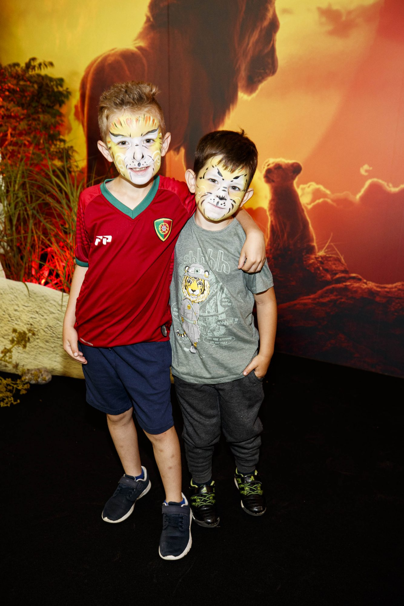 Jacob (4) and Dylan Murray (7) pictured at a special family screening of Disney's THE LION KING at the Odeon Point Village. Picture: Andres Poveda