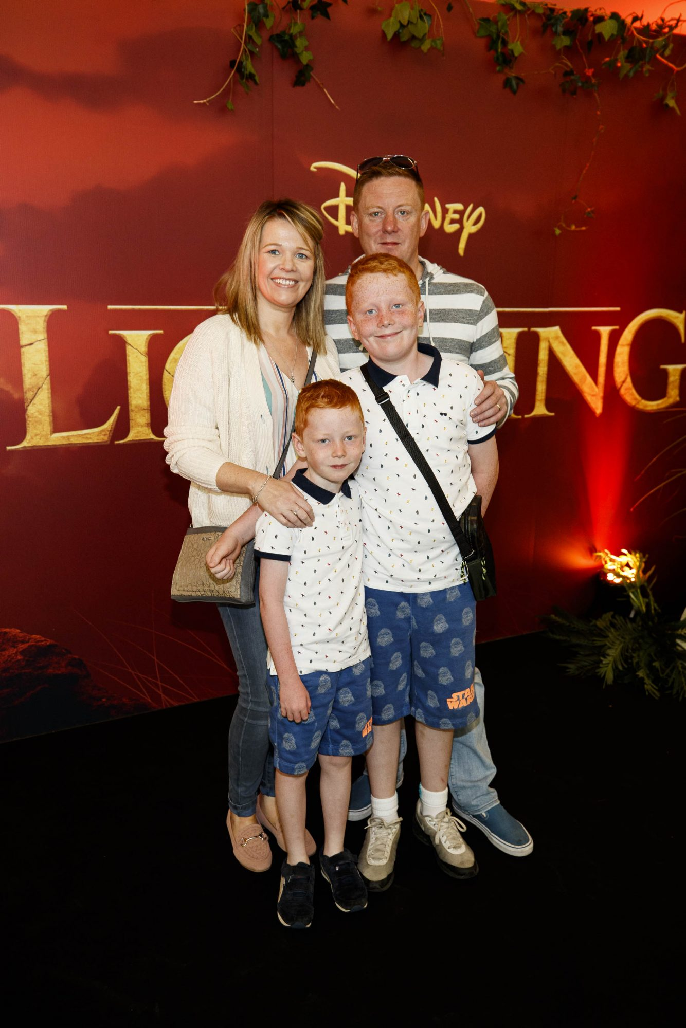 Yvonne and Stephen McGivern with Aaron (7) and Luis (10) pictured at a special family screening of Disney's THE LION KING at the Odeon Point Village. Picture: Andres Poveda