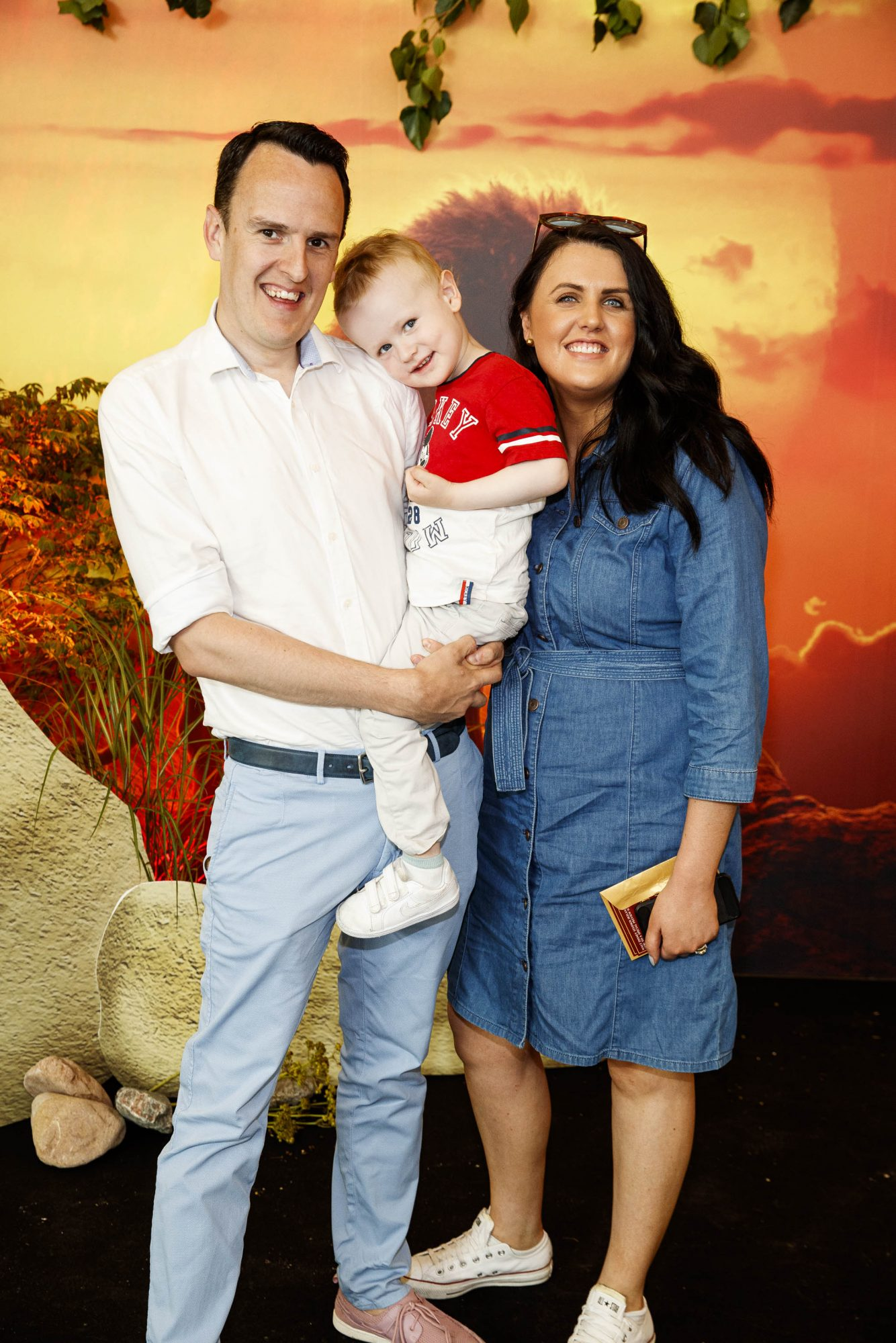 Martyn and Evelyn Rosney pictured with Jack (2) at a special family screening of Disney's THE LION KING at the Odeon Point Village. Picture: Andres Poveda