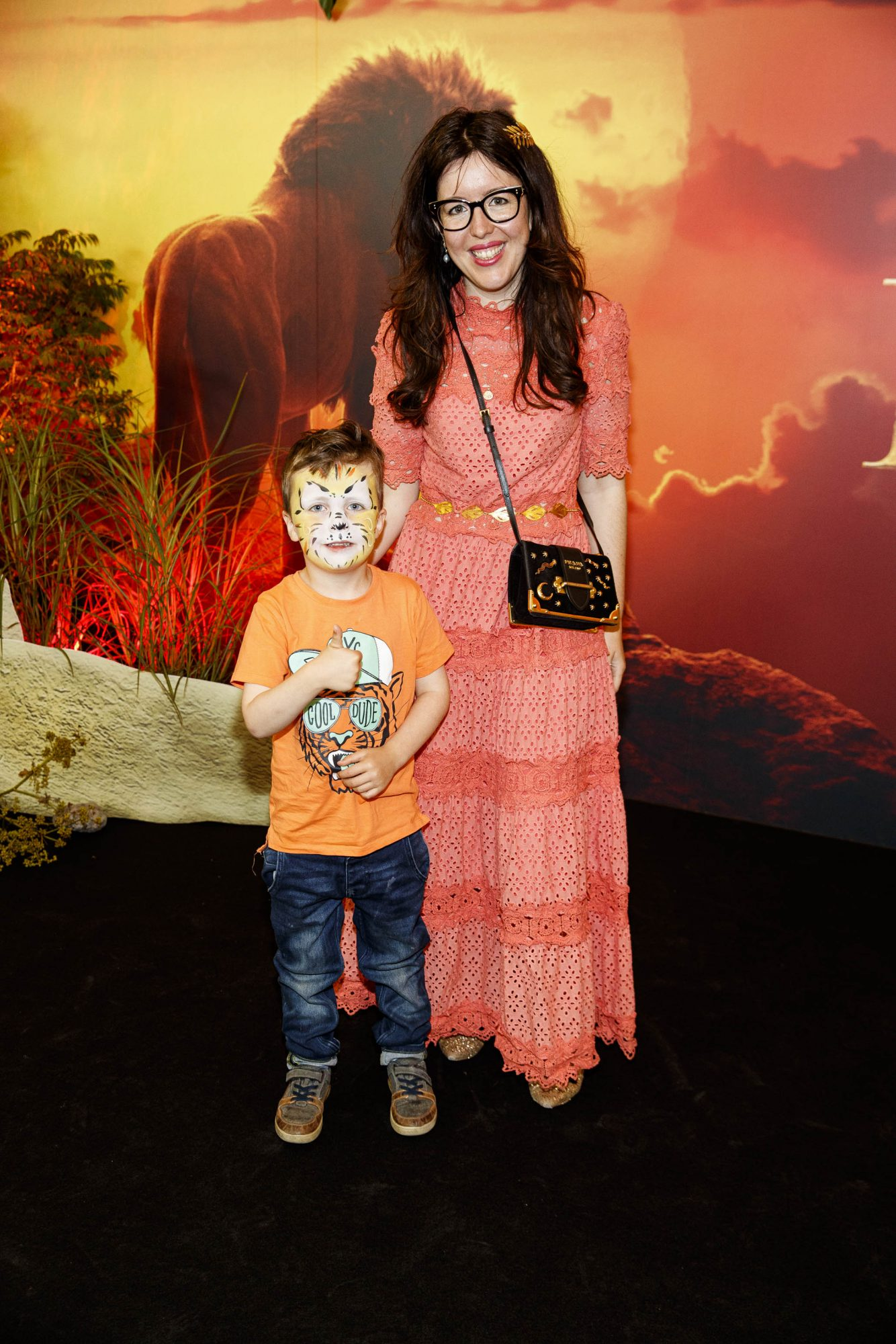 Ruben Mullen (5) and Chupi Sweetman pictured at a special family screening of Disney's THE LION KING at the Odeon Point Village. Picture: Andres Poveda