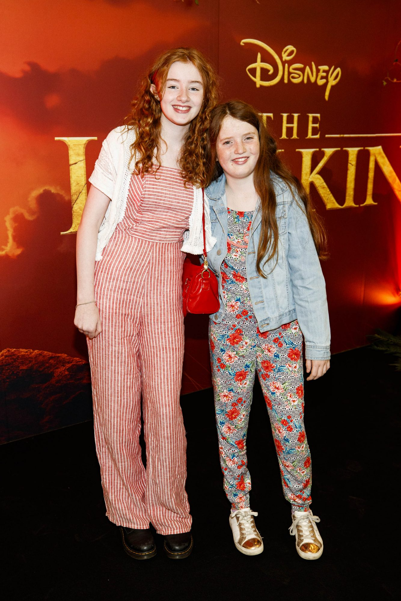 Eve Maher (13) and Amber O'Grady (12) pictured at a special family screening of Disney's THE LION KING at the Odeon Point Village. Picture: Andres Poveda
