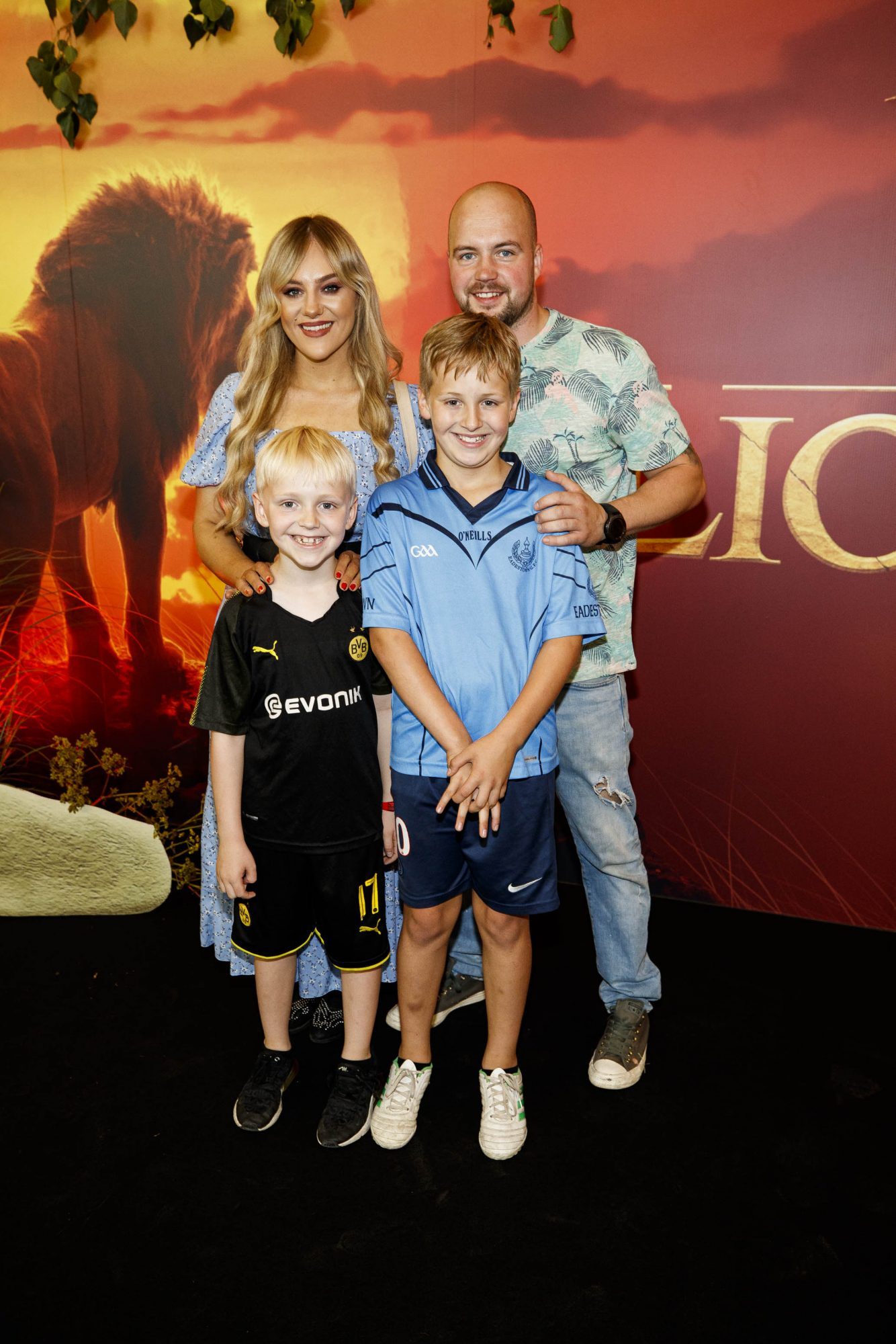 Josh, Kim and Shane Downes pictured at a special family screening of Disney's THE LION KING at the Odeon Point Village. Picture: Andres Poveda