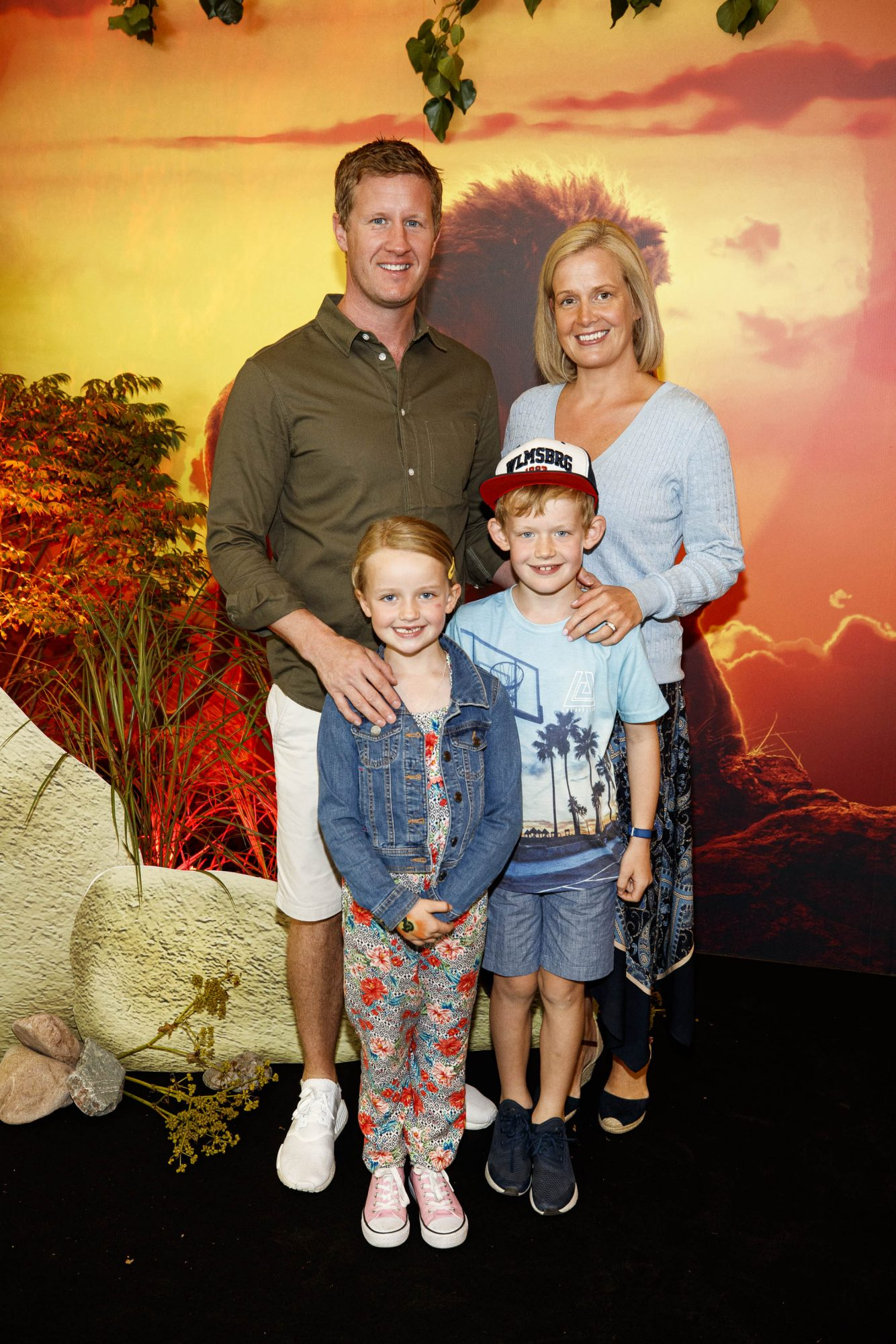 John and Claire Kilbride with Lotti (7) and Jono (8) pictured at a special family screening of Disney's THE LION KING at the Odeon Point Village. Picture: Andres Poveda