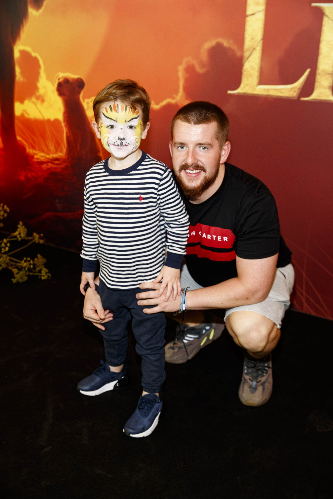 Bobby Ellis and Brandon Walsh pictured at a special family screening of Disney's THE LION KING at the Odeon Point Village. Picture: Andres Poveda
