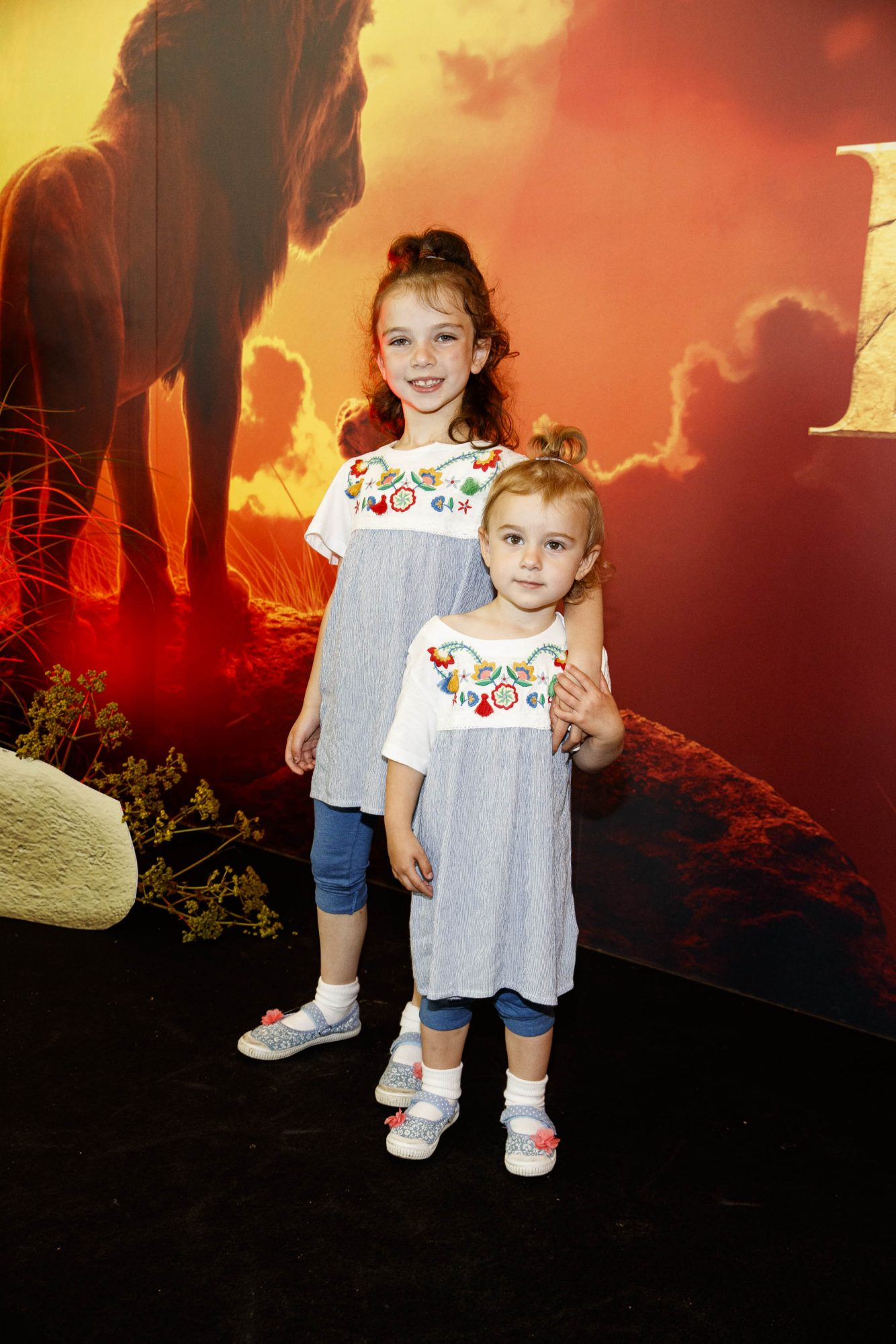 Sally and Robyn McGowan pictured at a special family screening of Disney's THE LION KING at the Odeon Point Village. Picture: Andres Poveda