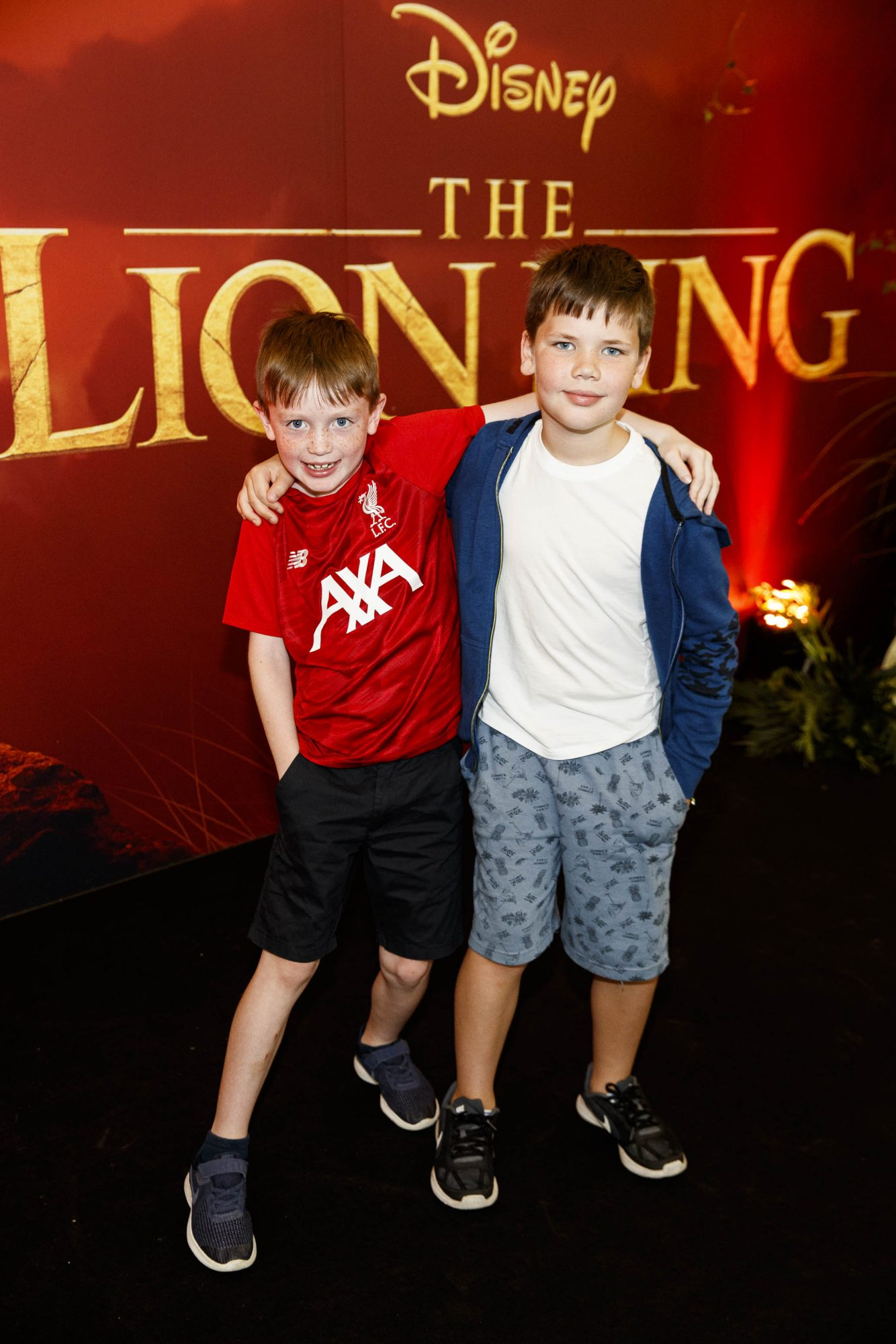 Eoin Reilly (8) and Joe Manning (8) pictured at a special family screening of Disney's THE LION KING at the Odeon Point Village. Picture: Andres Poveda