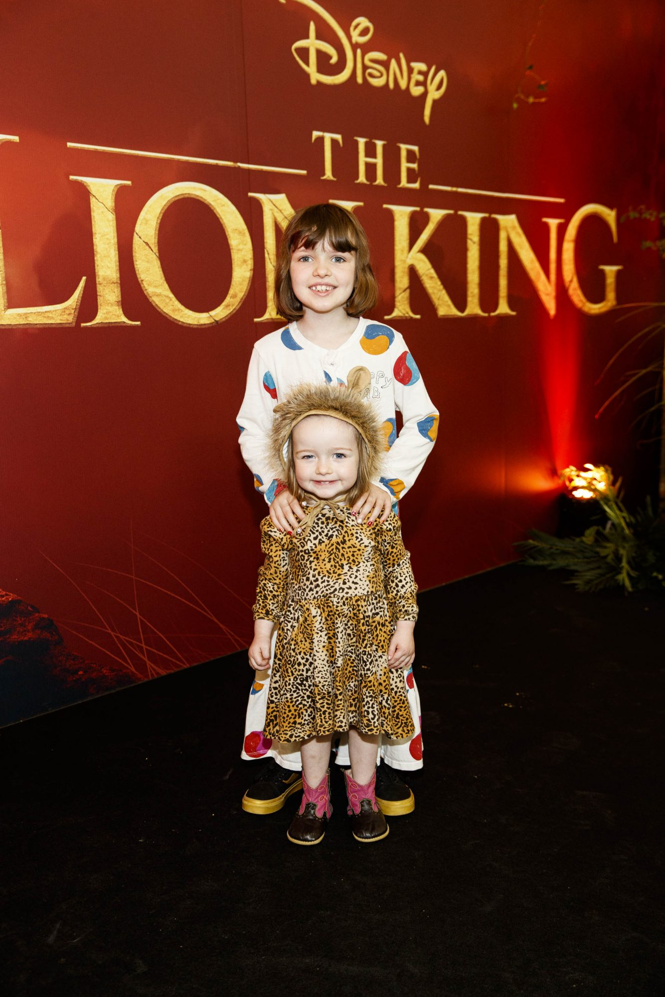 Marnie Lynch (2) and Penny Lynch (7) pictured at a special family screening of Disney's THE LION KING at the Odeon Point Village. Picture: Andres Poveda