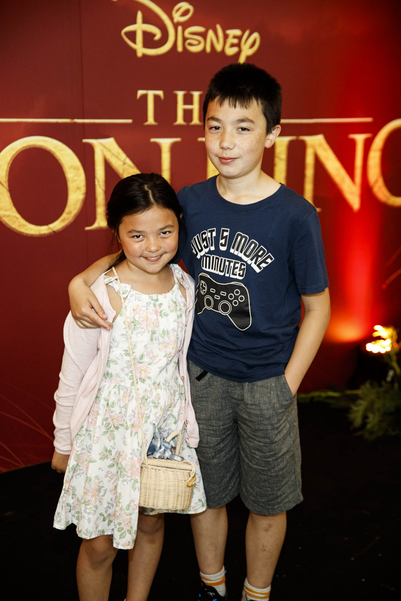 Abie Kinsella (8) and Patrick Kinsella (12) pictured at a special family screening of Disney's THE LION KING at the Odeon Point Village. Picture: Andres Poveda
