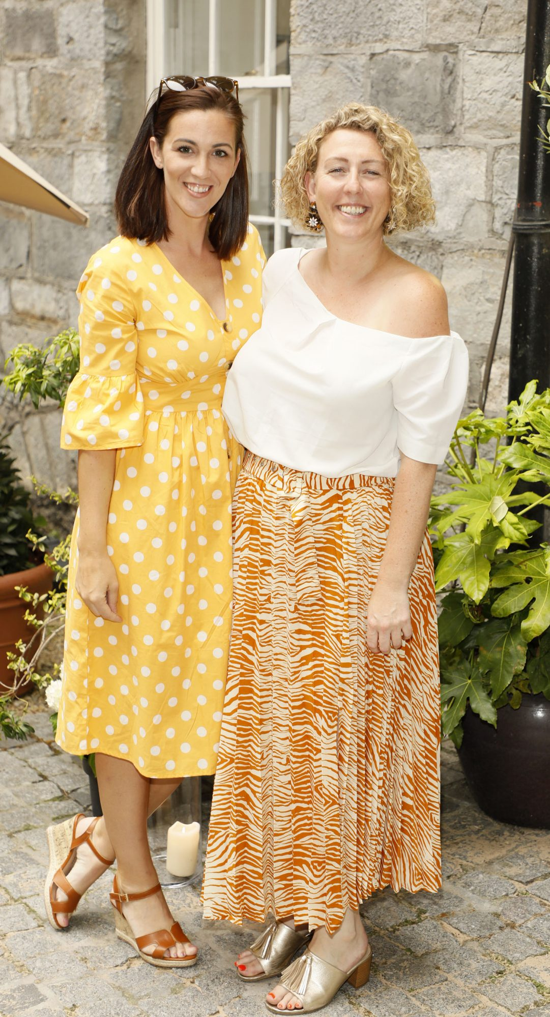 Suzanne Kane and Aisling O'Toole at the Centra 'Wines We Love' event in Dublin. Photo: Kieran Harnett