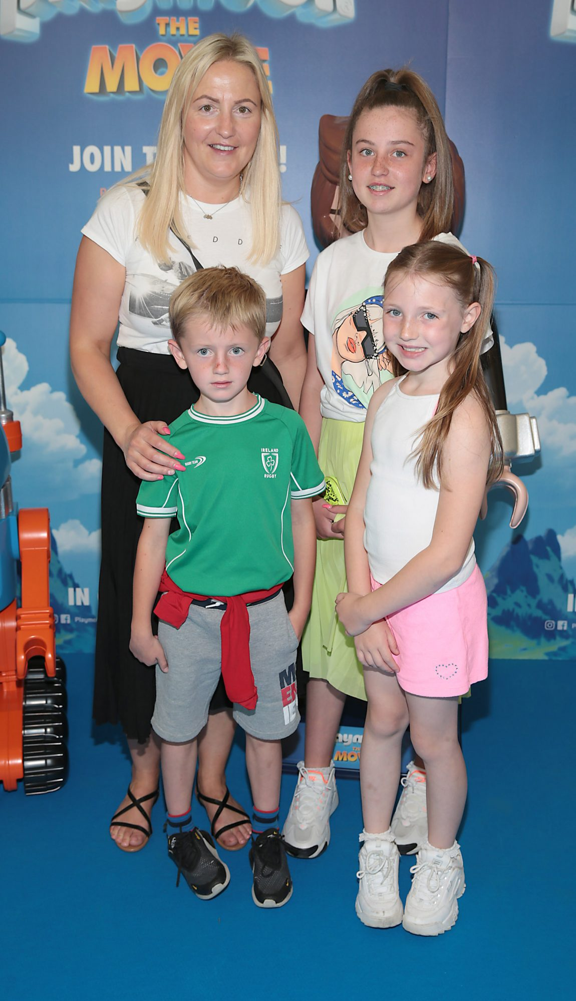 Karen Behan ,Harry Behan,Grace Behan and Sienna Behan at the special preview screening of Playmobil : The Movie. Photo: Brian McEvoy