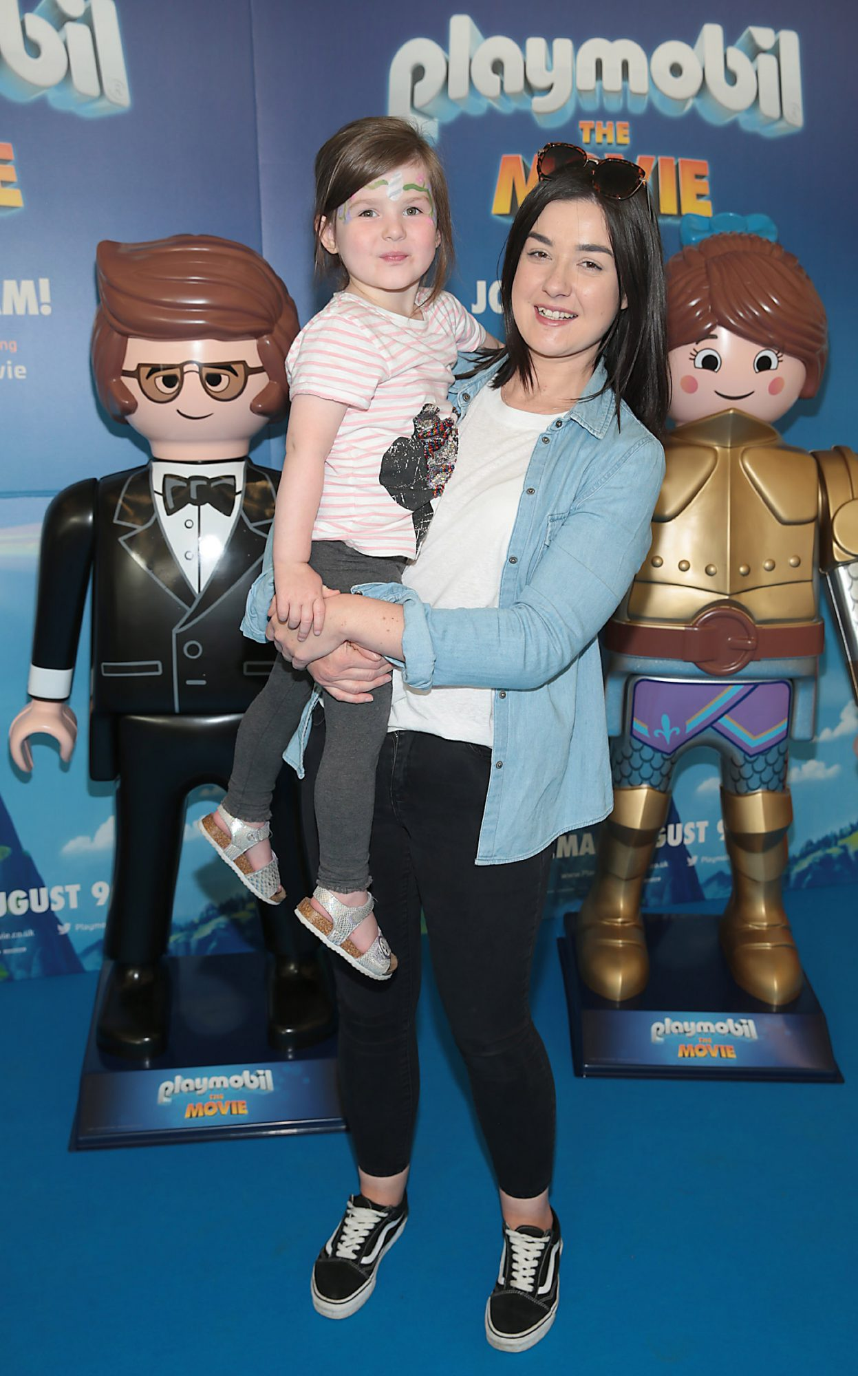 Emma Higgins and Holly Higgins at the special preview screening of Playmobil : The Movie. Photo: Brian McEvoy