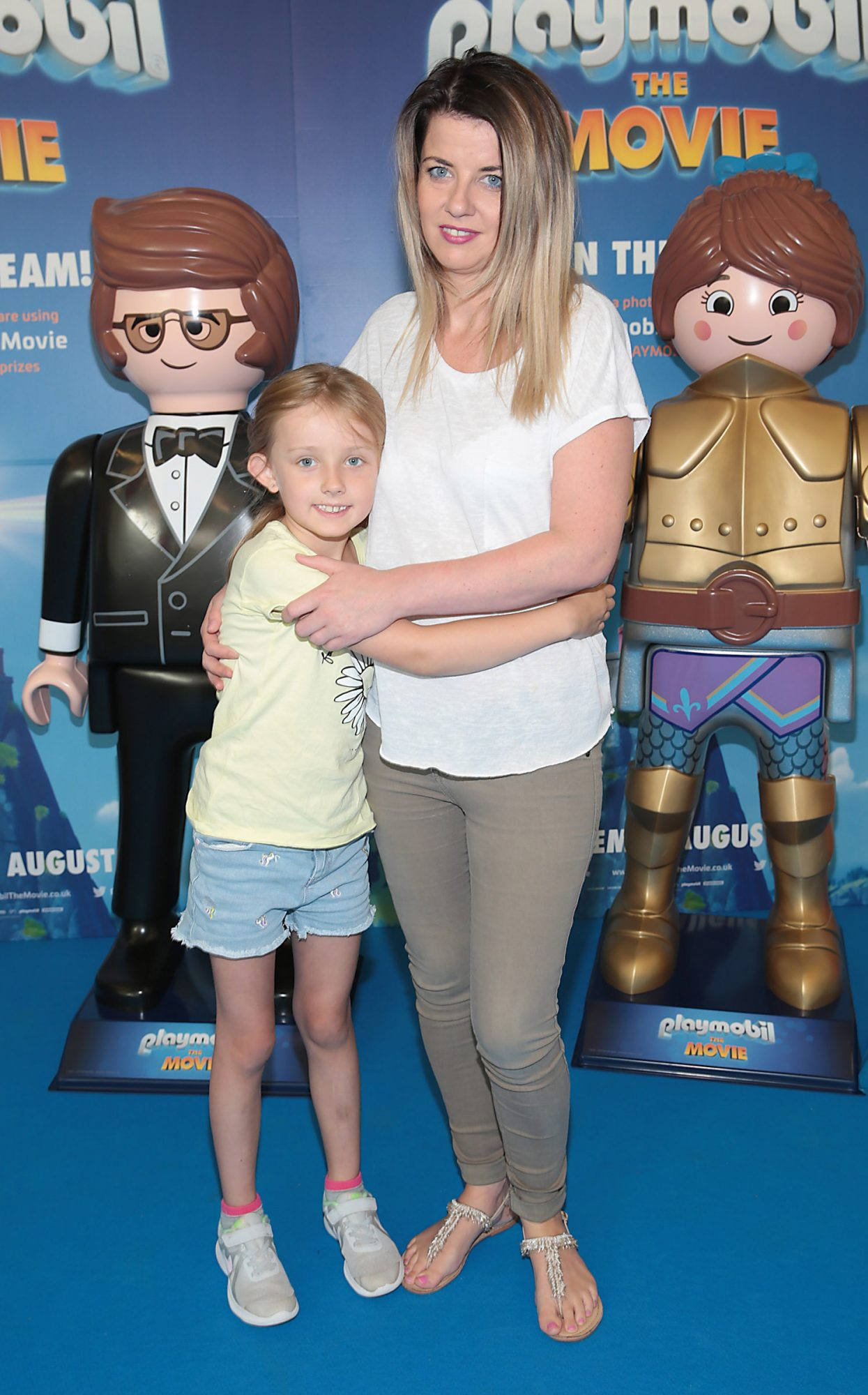 Laura Greene and Sophie Greene at the special preview screening of Playmobil : The Movie. Photo: Brian McEvoy