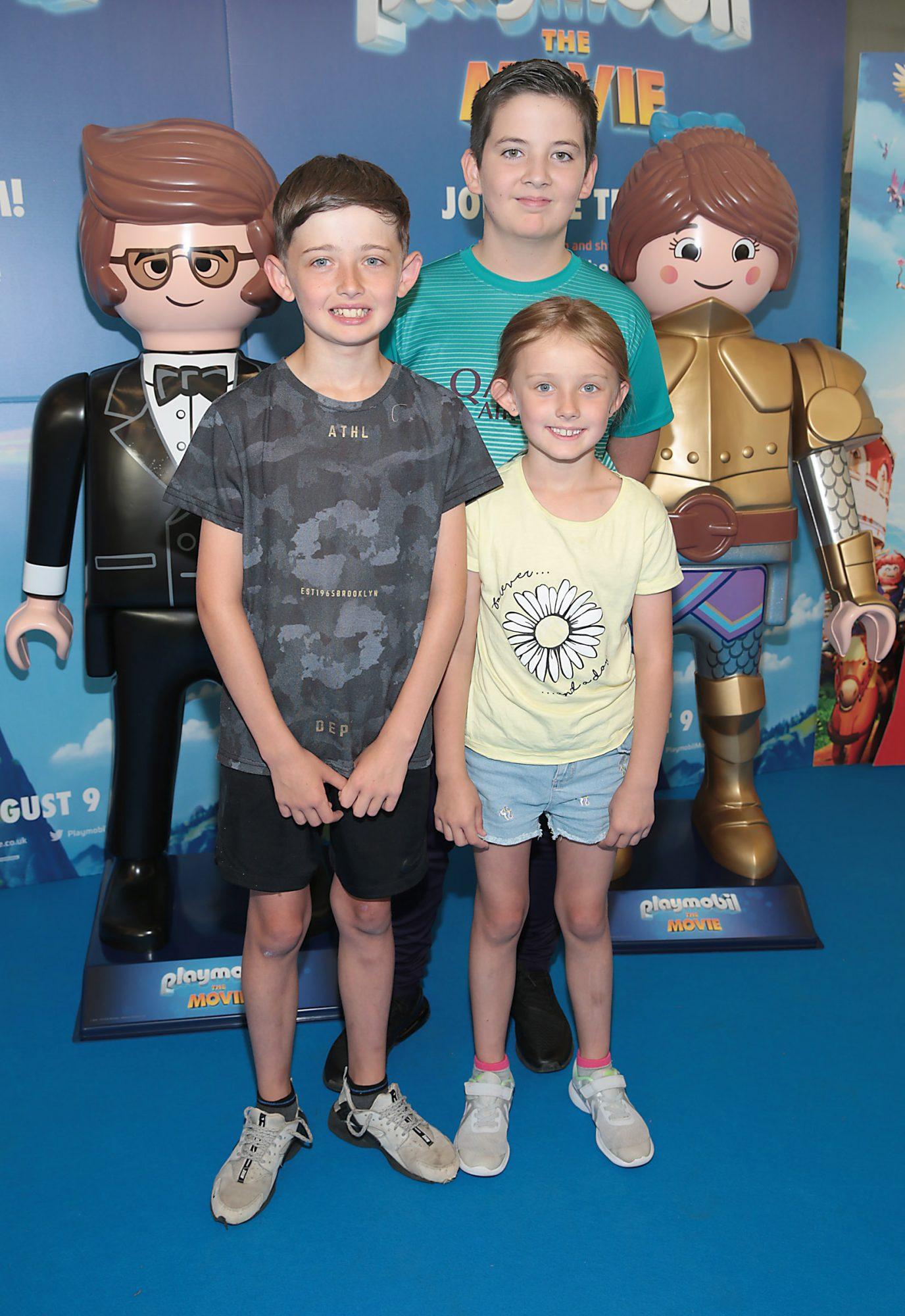 Sophie Greene ,Andrew Smith and Ryan Greene  at the special preview screening of Playmobil : The Movie. Photo: Brian McEvoy