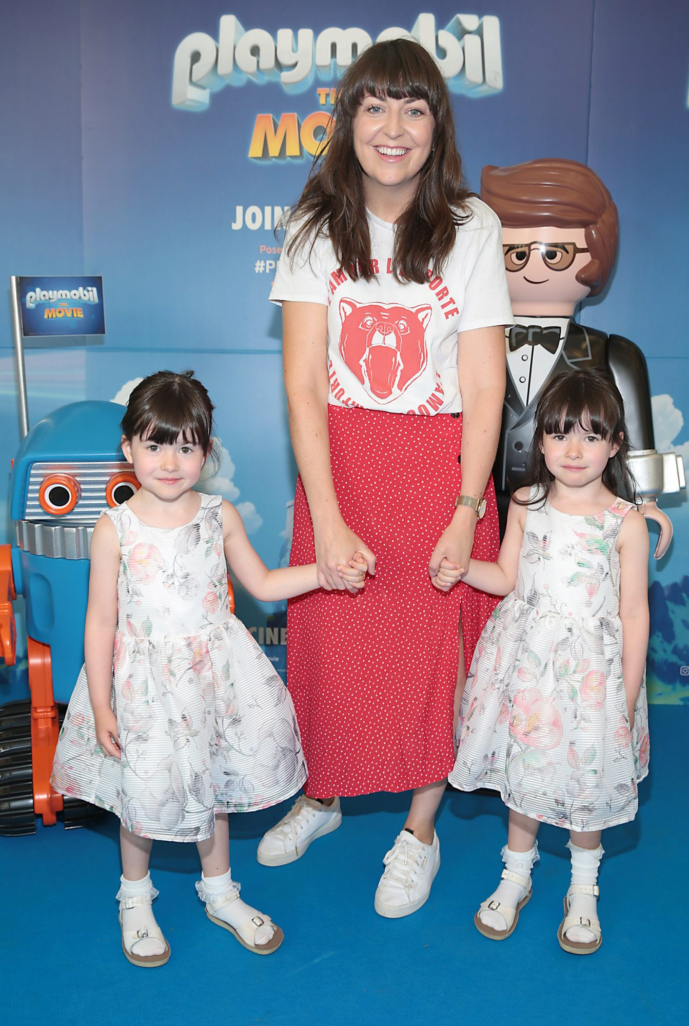 Lily Hassett, Jackie Conway and Alice Hassett  at the special preview screening of Playmobil : The Movie. Photo: Brian McEvoy