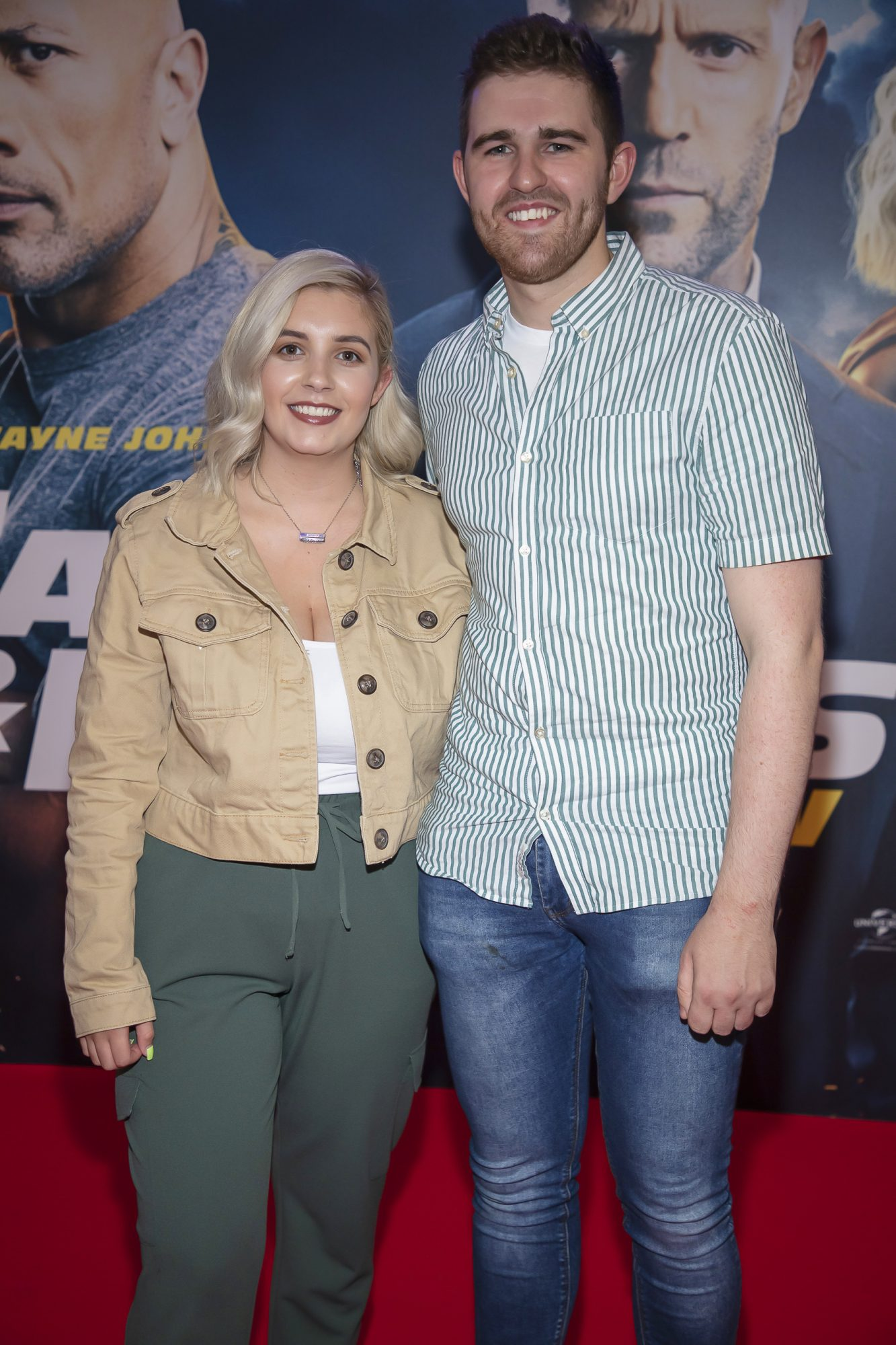 Chelsea Flanagan & Keith Gribbin pictured at a special preview screening of Fast & Furious Presents: Hobbs & Shaw. Photo: Anthony Woods