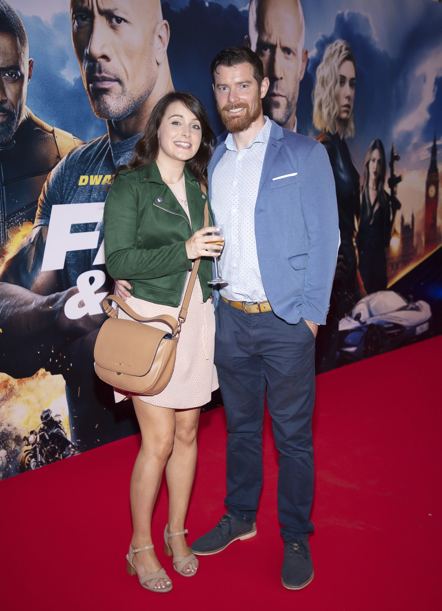 Ciara & Daniel Fagan pictured at a special preview screening of Fast & Furious Presents: Hobbs & Shaw. Photo: Anthony Woods