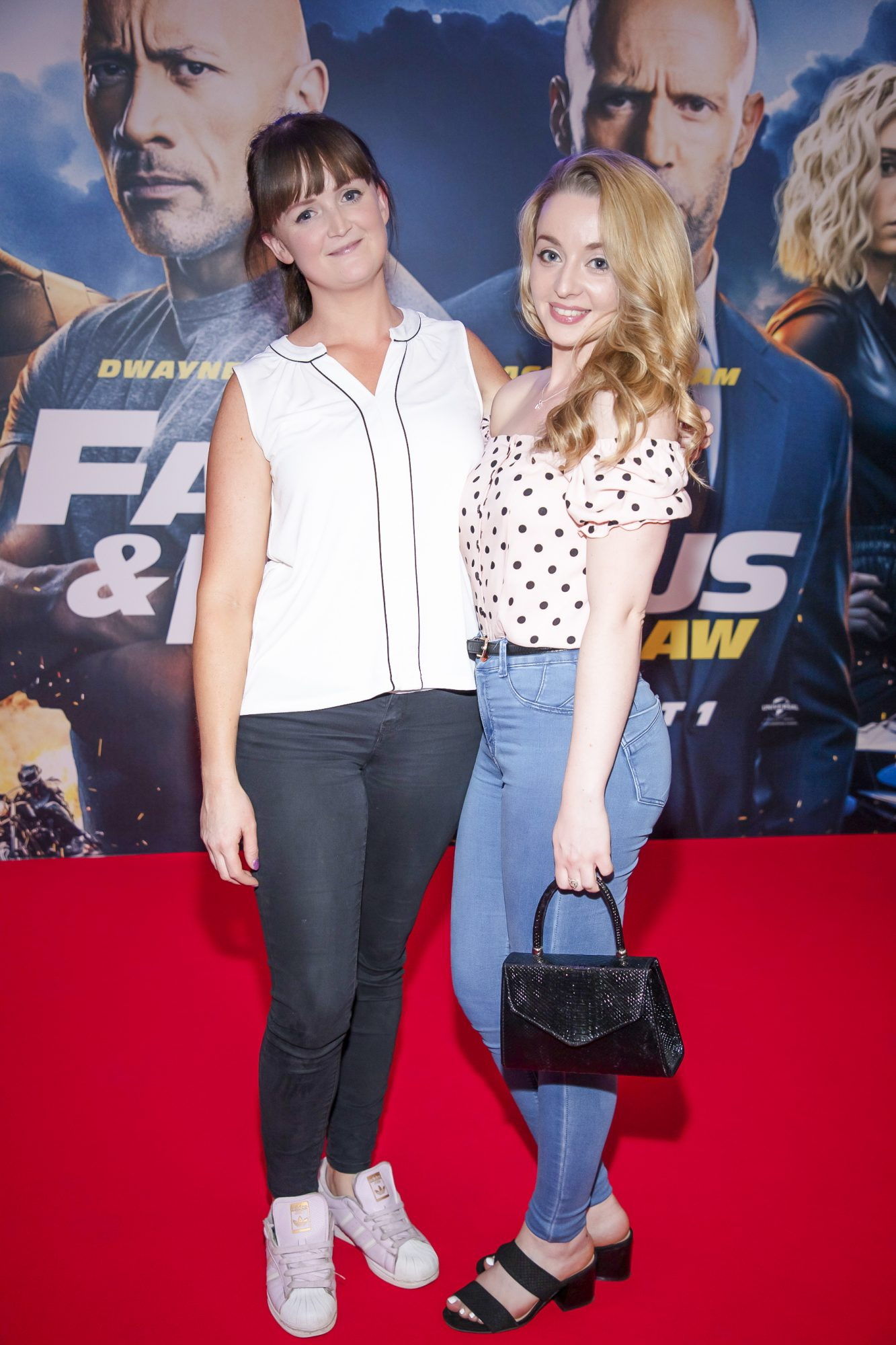 Claire Twyford  & Danielle Jordan pictured at a special preview screening of Fast & Furious Presents: Hobbs & Shaw. Photo: Anthony Woods