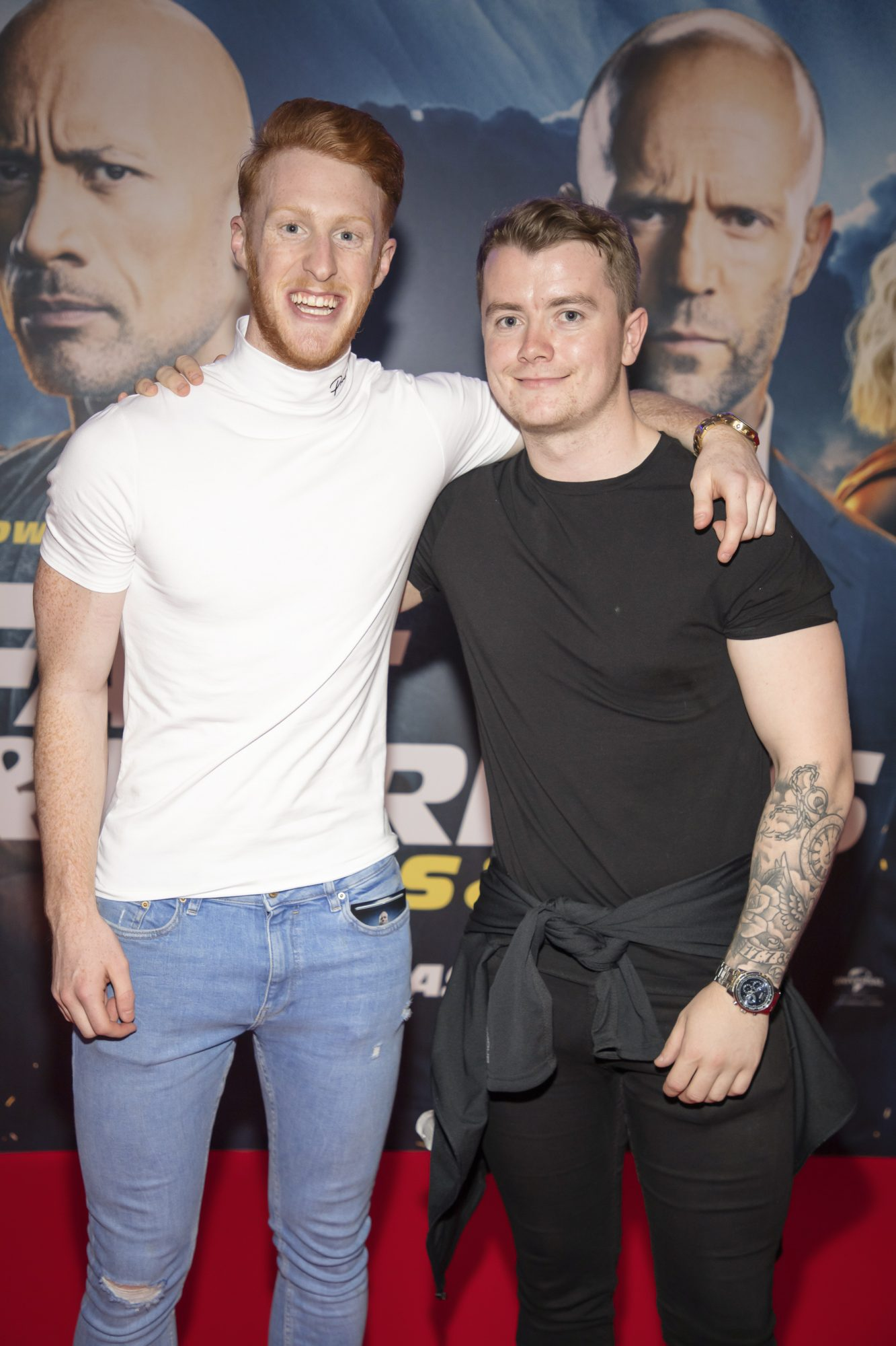 Jordan Knowles & Eric Byrne pictured at a special preview screening of Fast & Furious Presents: Hobbs & Shaw. Photo: Anthony Woods