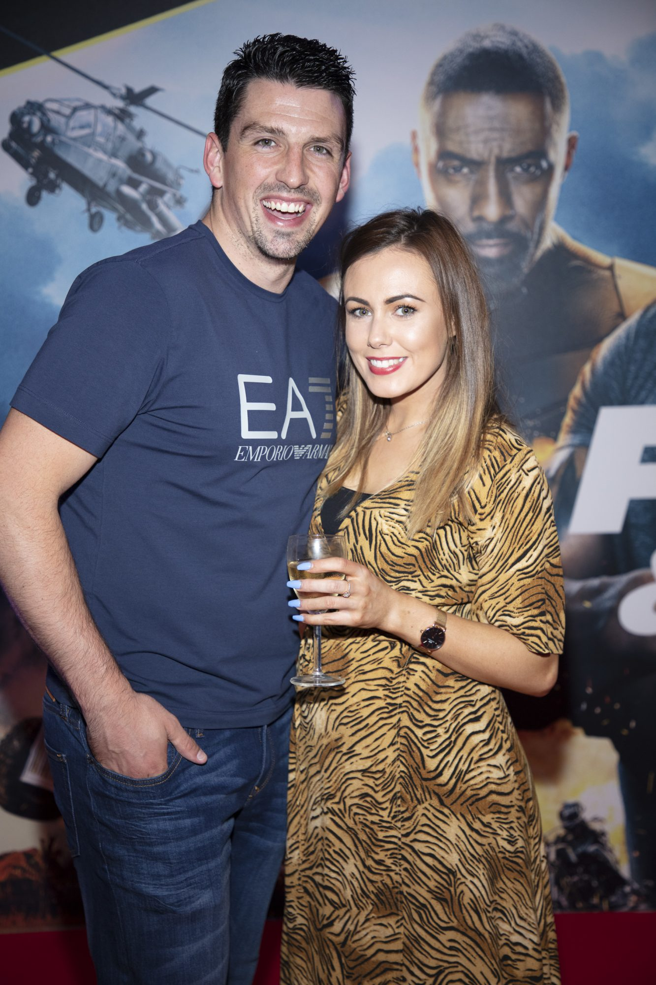 Paul Kelly & Denise Doran pictured at a special preview screening of Fast & Furious Presents: Hobbs & Shaw. Photo: Anthony Woods