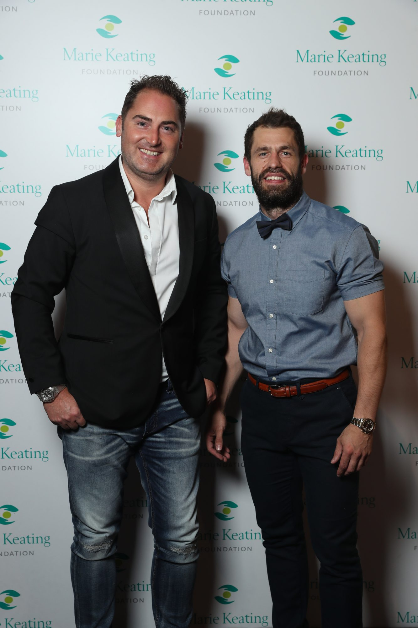 Pictured were Matt Heycox and Kelvin Fletcher at the Marie Keating Foundation Celebrity Golf Classic.. Picture: Jason Clarke.