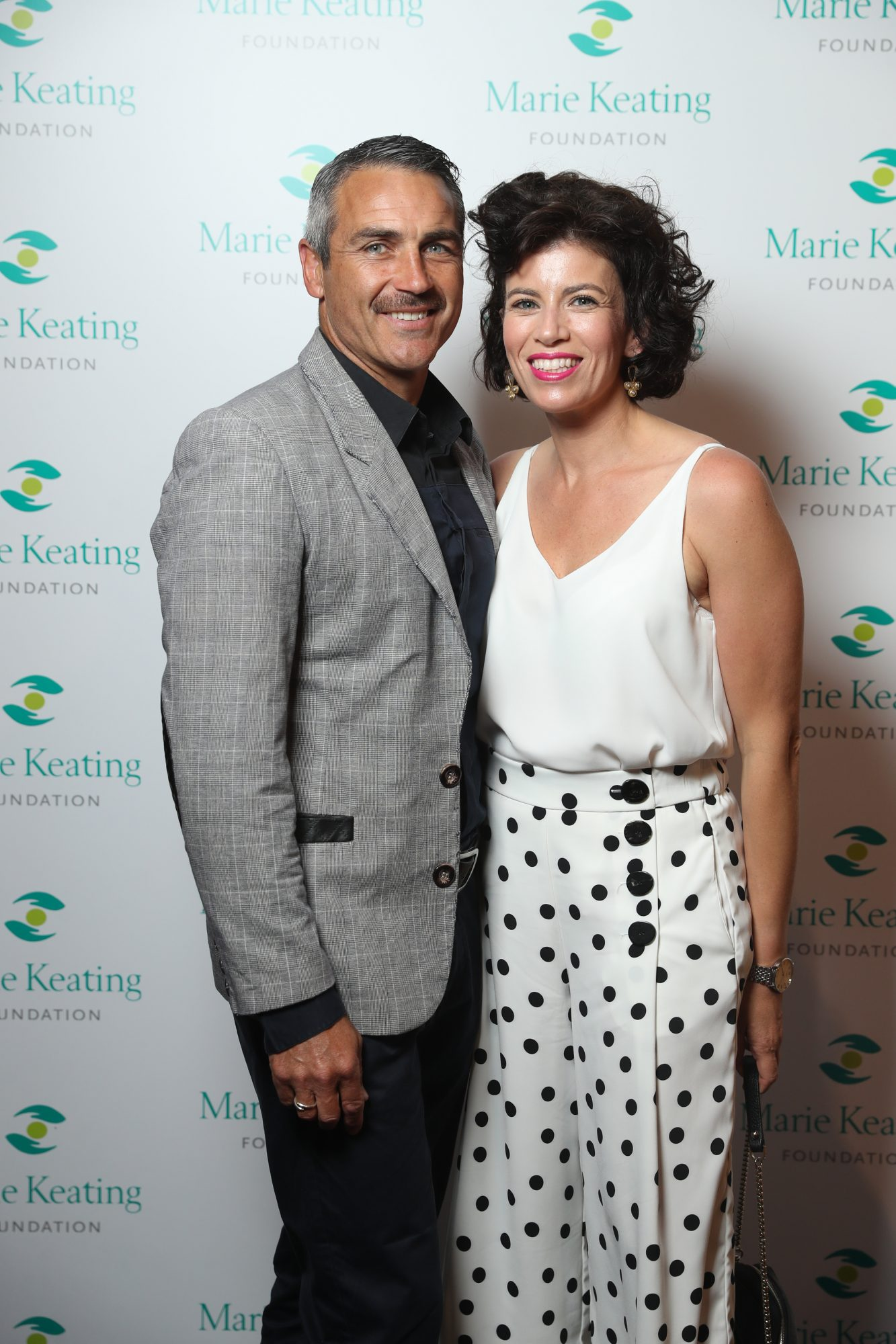 Robert and Tania Shield at the Marie Keating Foundation Celebrity Golf Classic. Picture: Jason Clarke