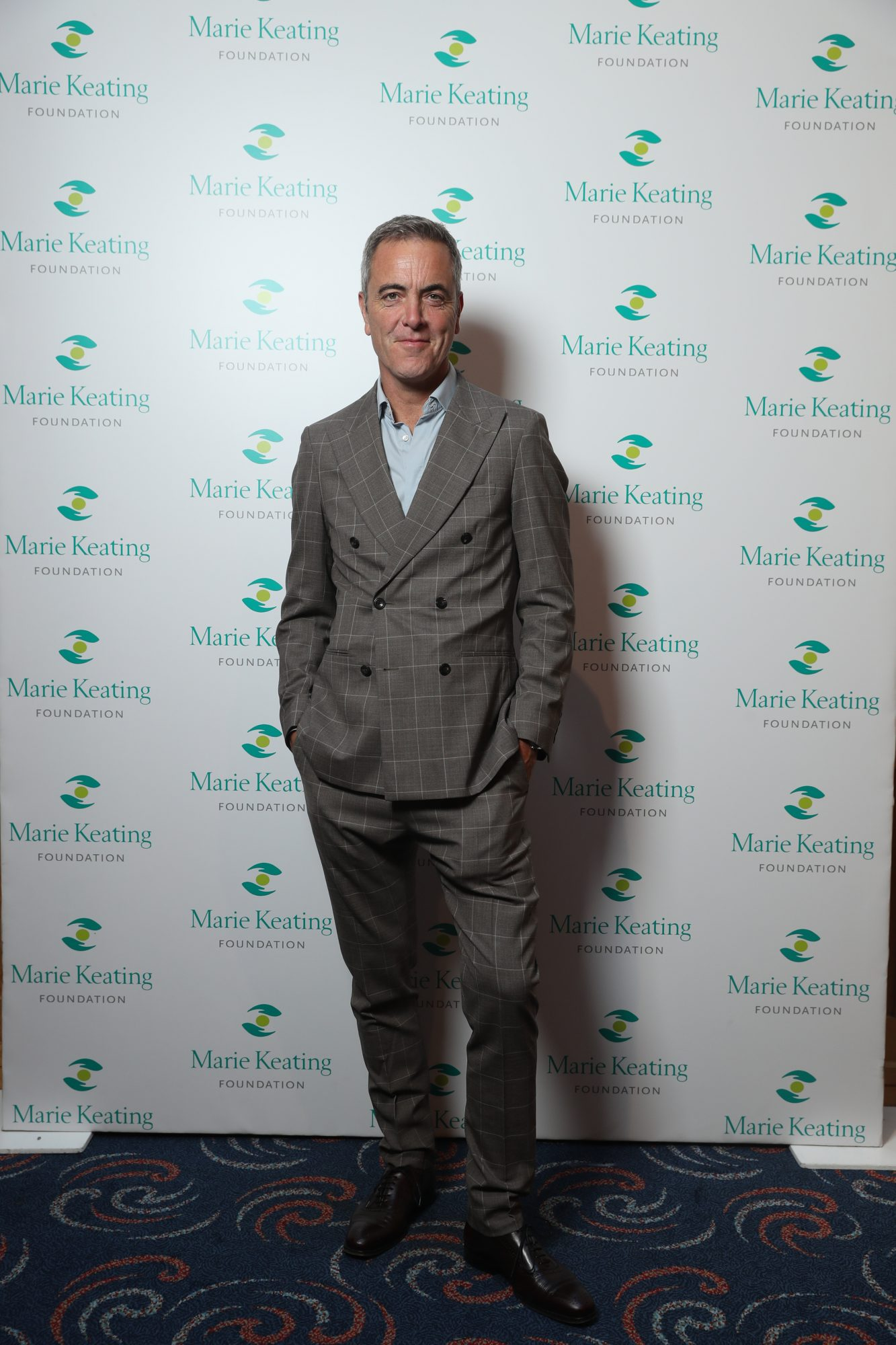 Repro Free Thursday 1st August 2019; pictured was James Nesbitt at the Marie Keating Foundation Celebrity Golf Classic kindly supported by Skechers, Its4women, Marks & Spencer and Devine's Worldwide Chauffeurs, which took place on the Palmer Course at the K Club.  Now in its 21st year, the event saw a host of celebrities including Mike Tindall, James Nesbitt, Craig McGinlay, Stephen Hendry, Barry Murphy, Brian Ormond and Fiona O'Carroll, descend on the prestigious Kildare course to enjoy a fantastic day of golf followed by dinner at the K Club. The highly anticipated event raises much needed funds for the Marie Keating Foundation and this year's funds will support the Foundation's cancer survivorship services. Picture Jason Clarke.  For further information, please contact Jennifer Cimerman, Communications Manager, Marie Keating Foundation on 087 6014602.