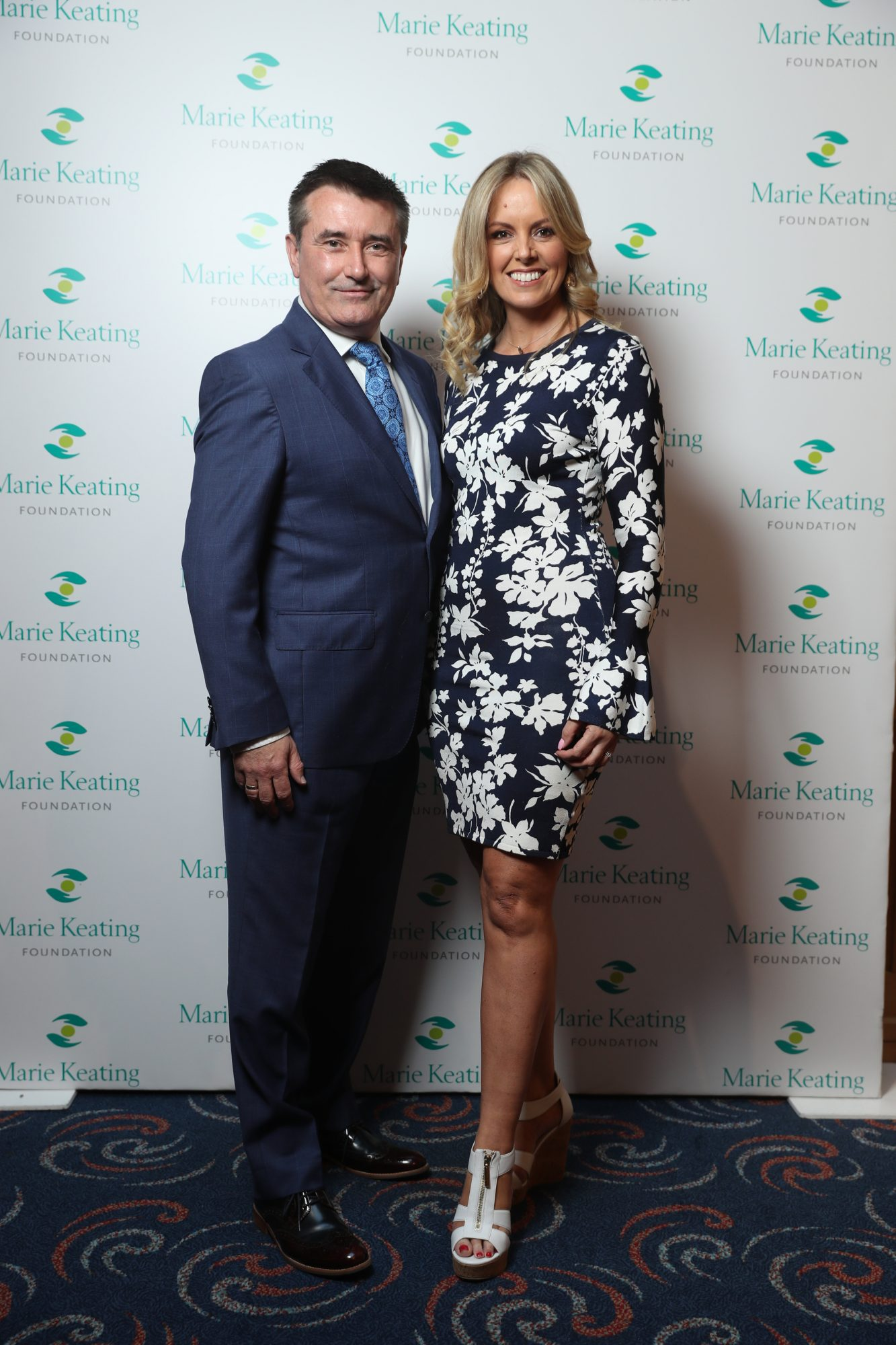 Martin King and Jenny McCarthy at the Marie Keating Foundation Celebrity Golf Classic. Picture: Jason Clarke