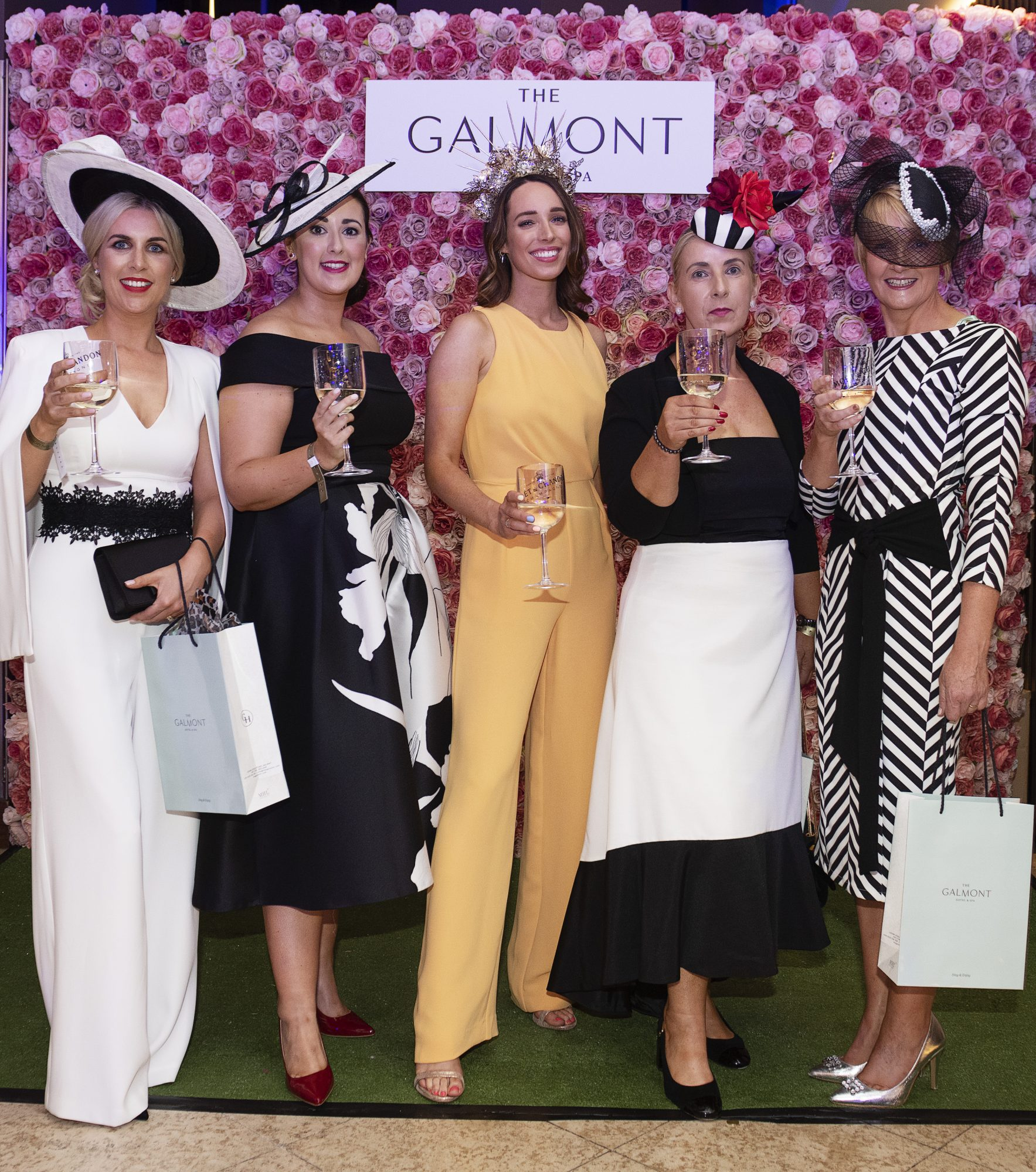Donna Ollerenshaw (Ballgluinin), Melissa Carty (Craughwell), Stylist Ciara O'Doherty, Mary Carty (Craughwell) and Gemma McDonagh (Headford)  at the #GalmontGirlsSquad in the Galmont Hotel and Spa in Galway City. Photo: Andrew Downes, xposure