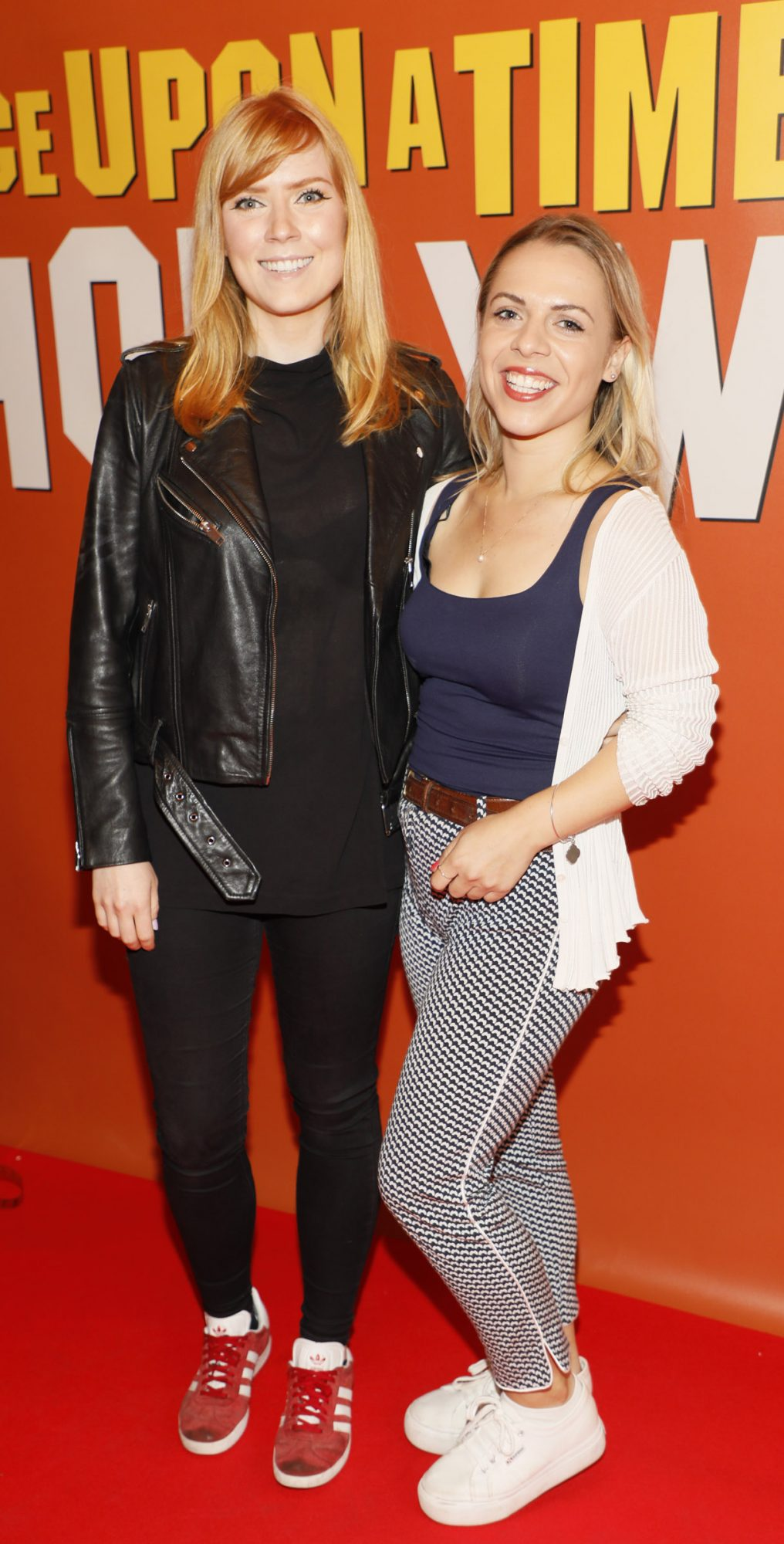 Aisling Chubb and Ysabel Pheifer at the Multimedia Screening of Once Upon A Time In Hollywood at the Stella Theatre, Rathmines, in cinema August 14th. Photo: Kieran Harnett