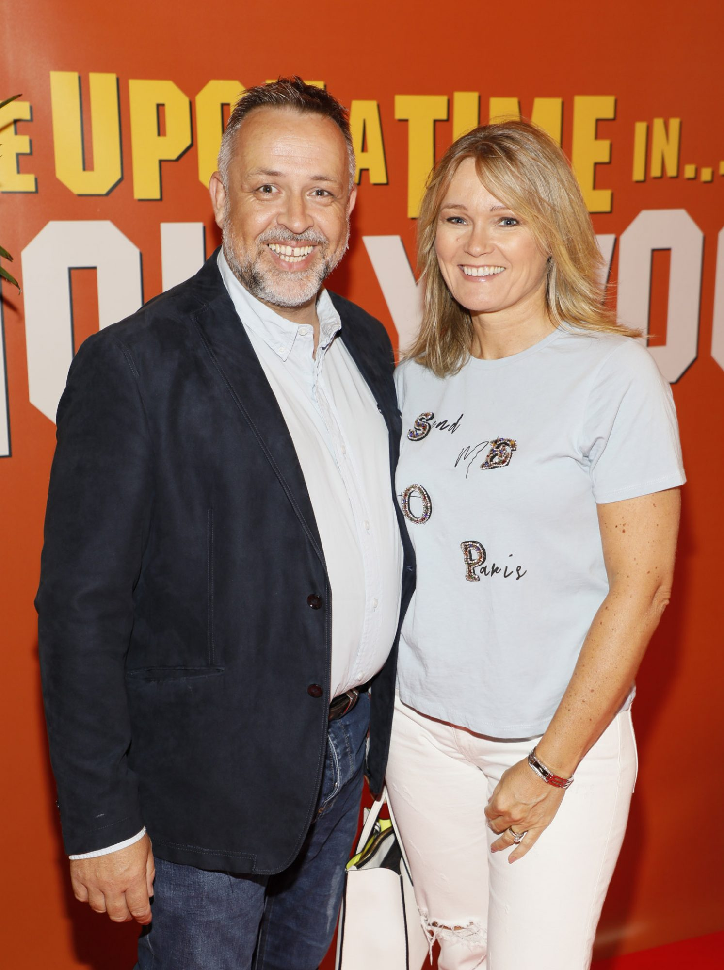 Cormac and Sarah Kelly at the Multimedia Screening of Once Upon A Time In Hollywood at the Stella Theatre, Rathmines, in cinema August 14th. Photo: Kieran Harnett