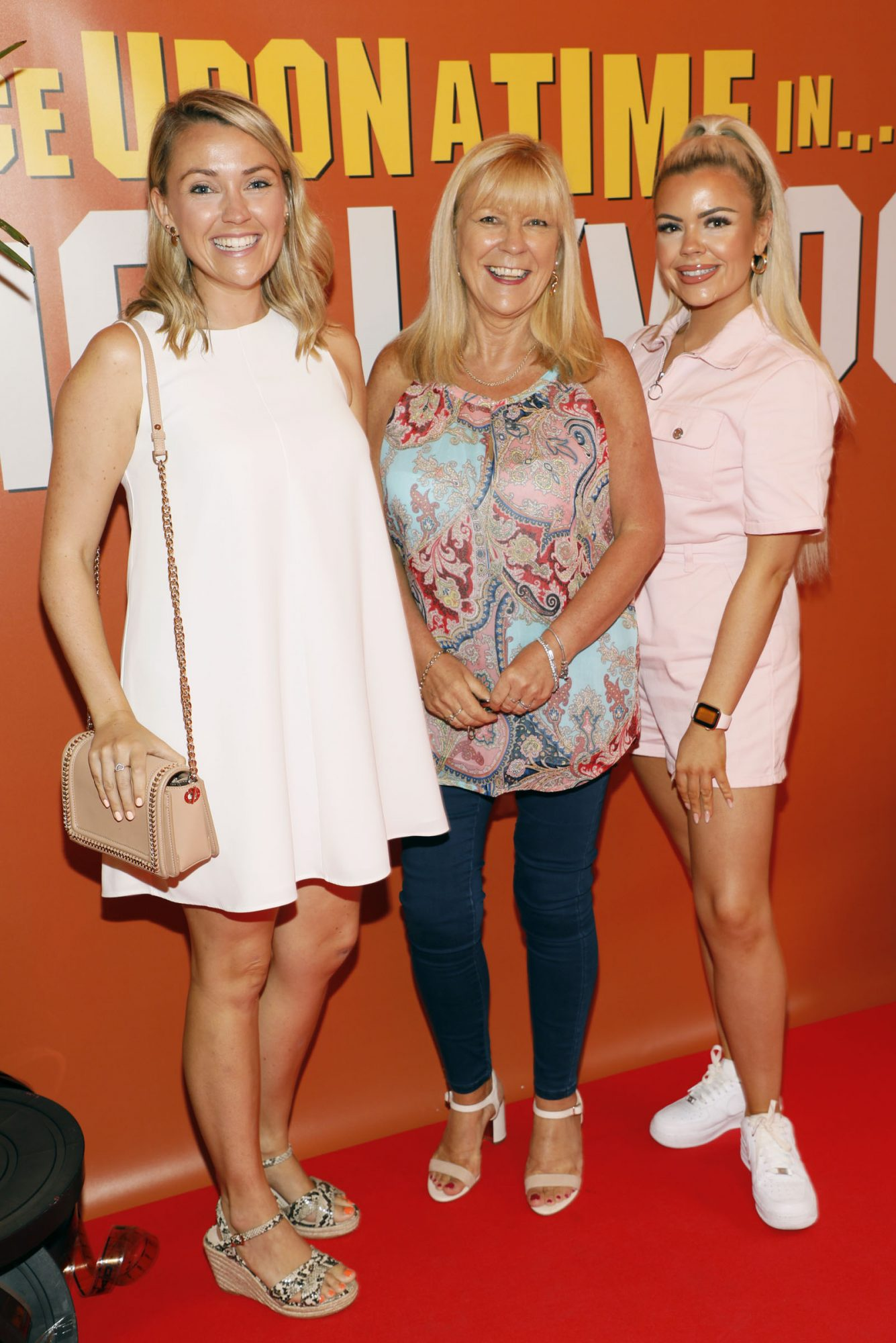 Emma, Noreen and Leah Ivie at the Multimedia Screening of Once Upon A Time In Hollywood at the Stella Theatre, Rathmines, in cinema August 14th. Photo: Kieran Harnett