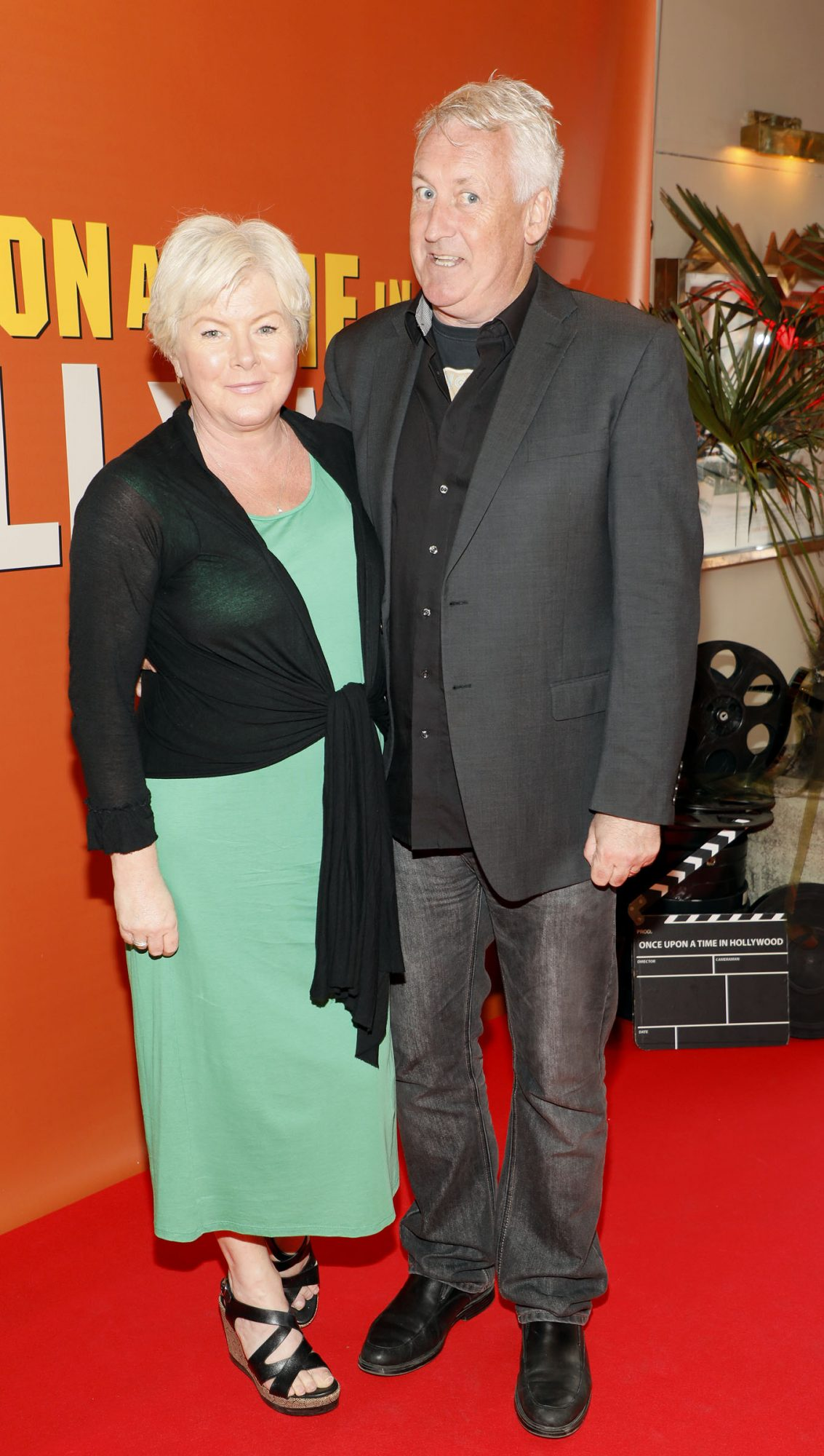 Flo McSweeney and Risteárd Cooper at the Multimedia Screening of Once Upon A Time In Hollywood at the Stella Theatre, Rathmines, in cinema August 14th. Photo: Kieran Harnett