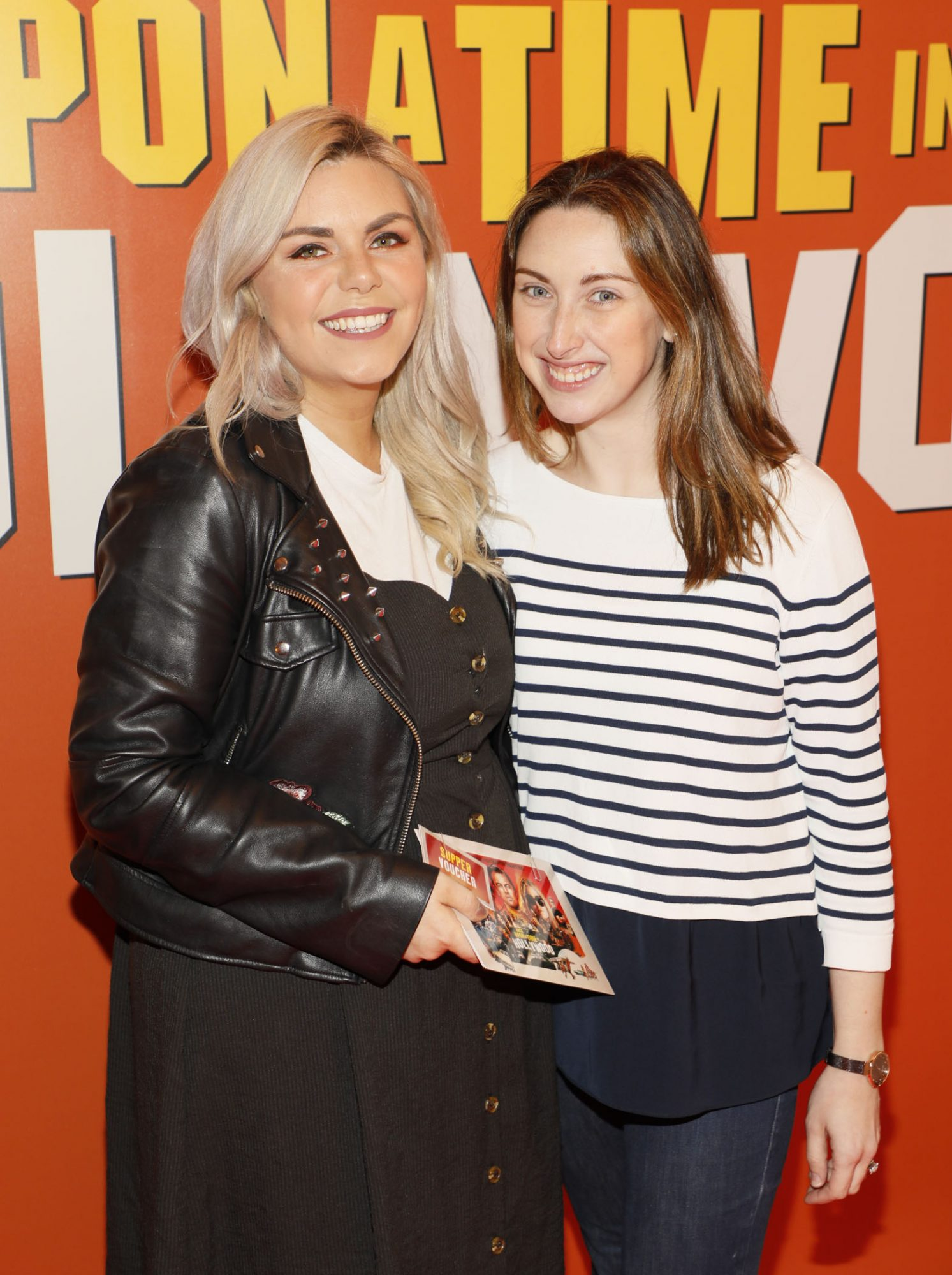 Hannah Aspil and Jacqueline Lacy at the Multimedia Screening of Once Upon A Time In Hollywood at the Stella Theatre, Rathmines, in cinema August 14th. Photo: Kieran Harnett