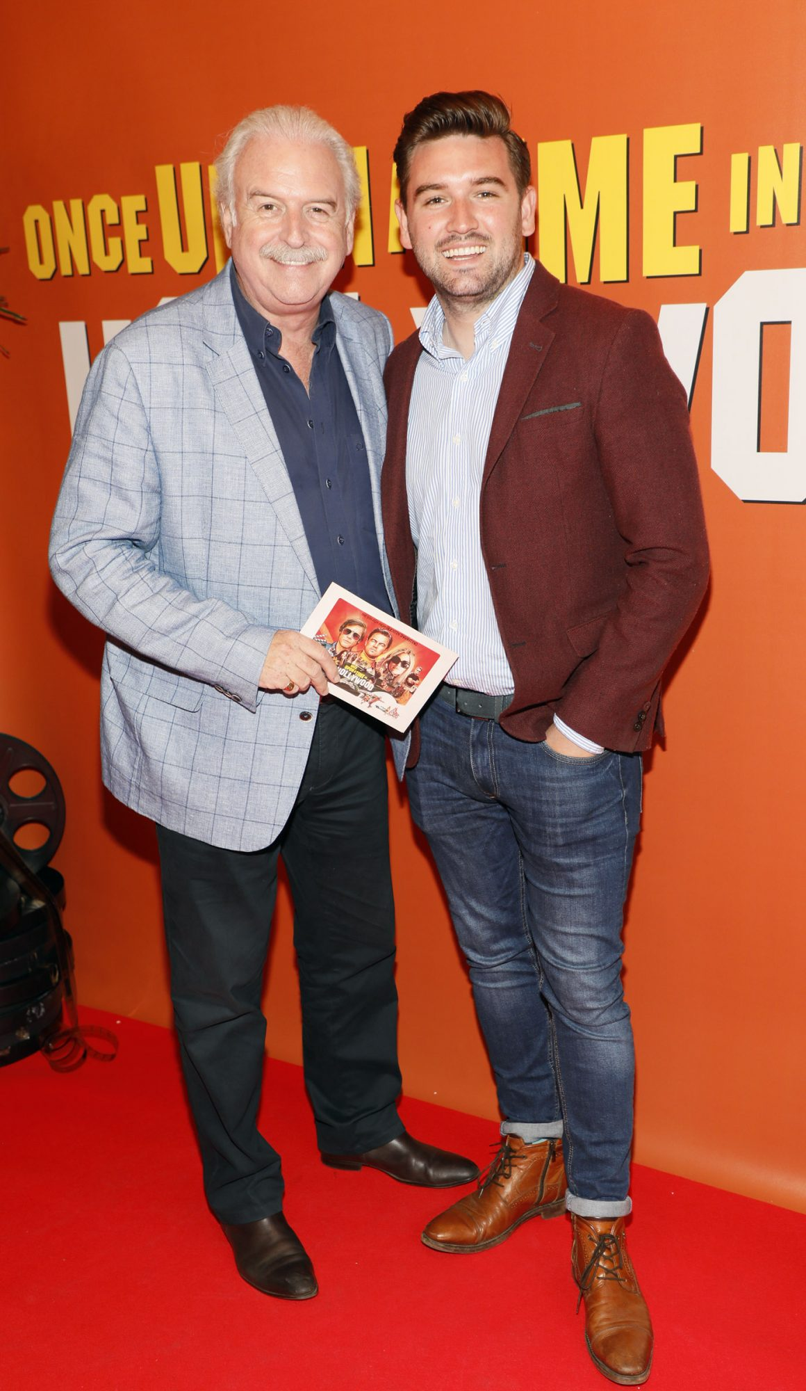 Marty and Thomas Whelan at the Multimedia Screening of Once Upon A Time In Hollywood at the Stella Theatre, Rathmines, in cinema August 14th. Photo: Kieran Harnett