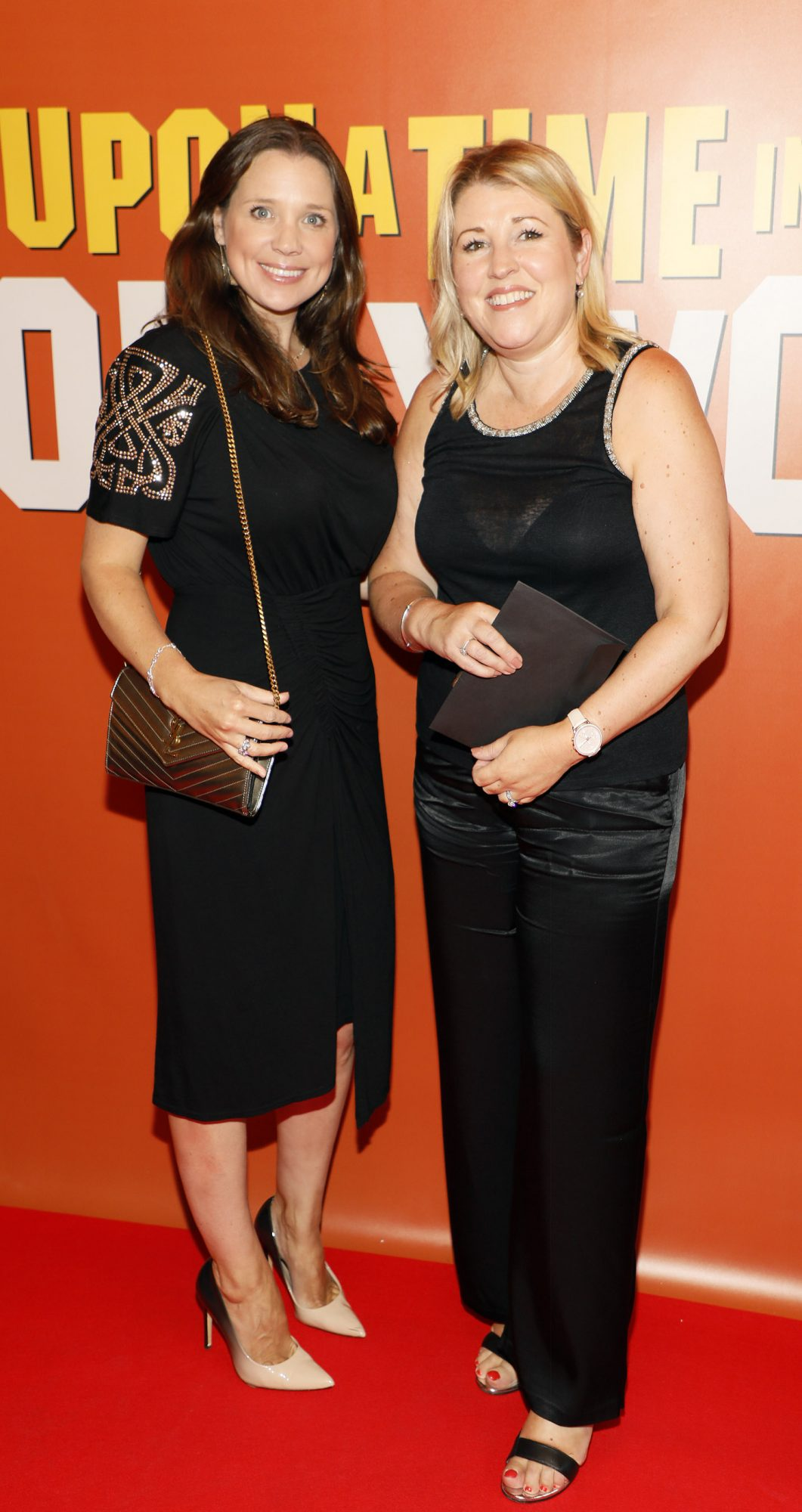 Niamh Davies Bevencourt and Kathryn Dredge at the Multimedia Screening of Once Upon A Time In Hollywood at the Stella Theatre, Rathmines, in cinema August 14th. Photo: Kieran Harnett