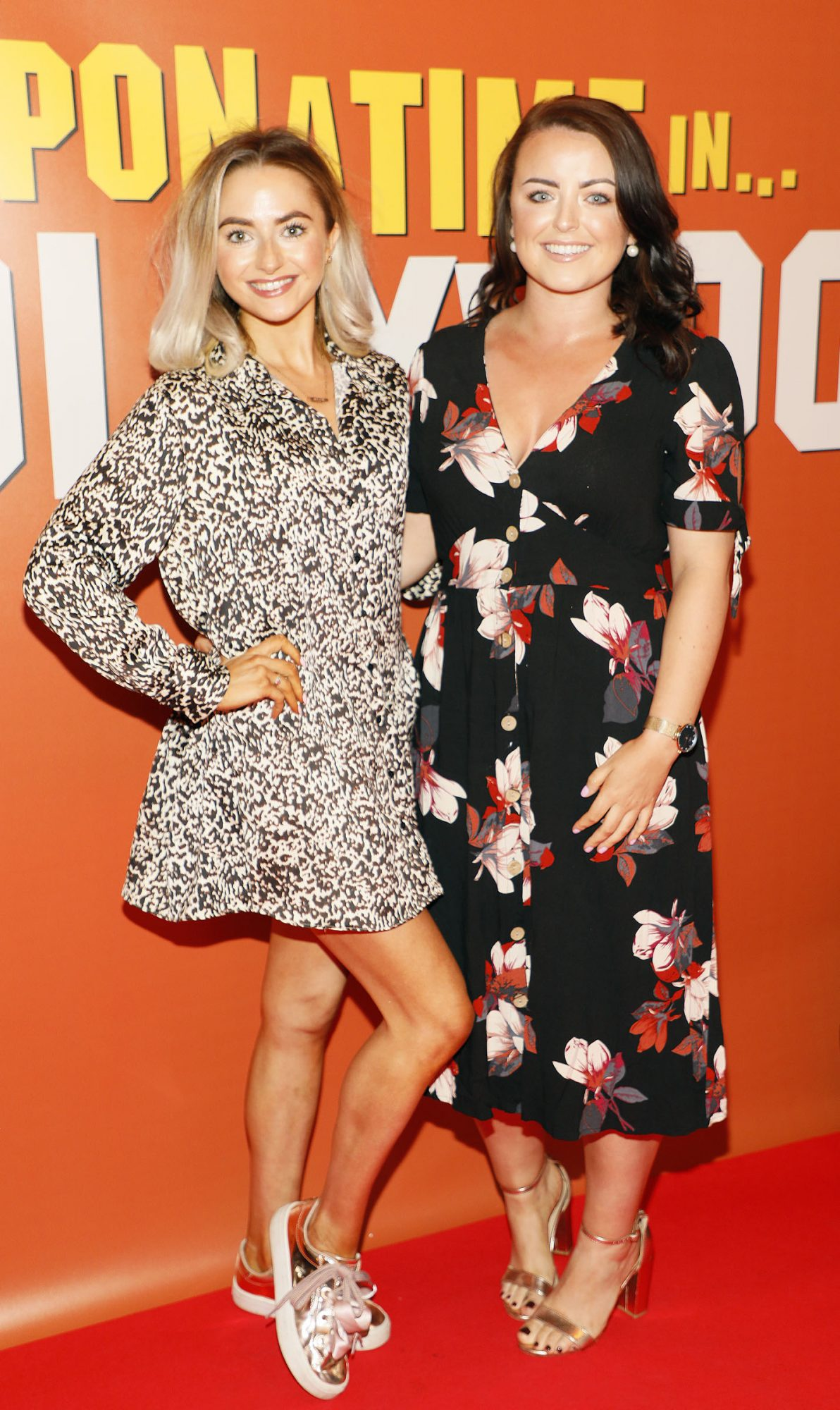 Roisin Dolan and Tania O'Donovan at the Multimedia Screening of Once Upon A Time In Hollywood at the Stella Theatre, Rathmines, in cinema August 14th. Photo: Kieran Harnett