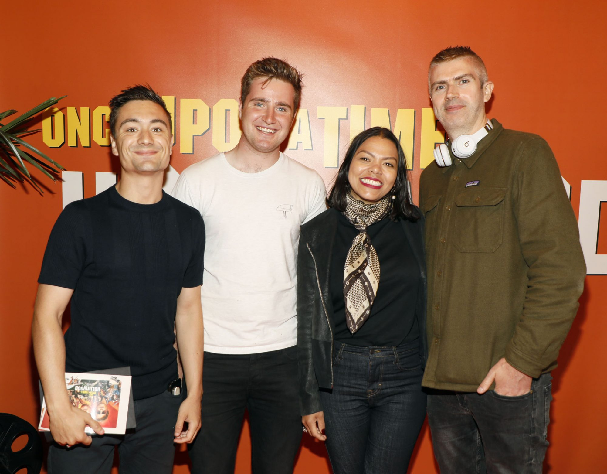 Will Rock, Jack Gleeson, Karla and Andrew Casey at the Multimedia Screening of Once Upon A Time In Hollywood at the Stella Theatre, Rathmines, in cinema August 14th. Photo: Kieran Harnett