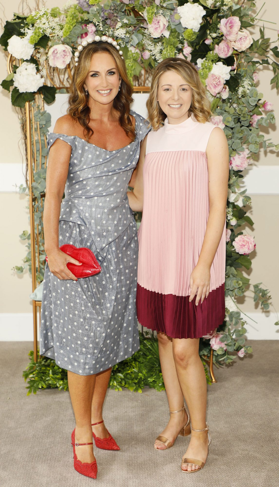 Lorraine Keane and Catherine O'Toole at the Dundrum Town Centre Ladies' Day at the Dublin Horse Show in the RDS. Photo: Kieran Harnett