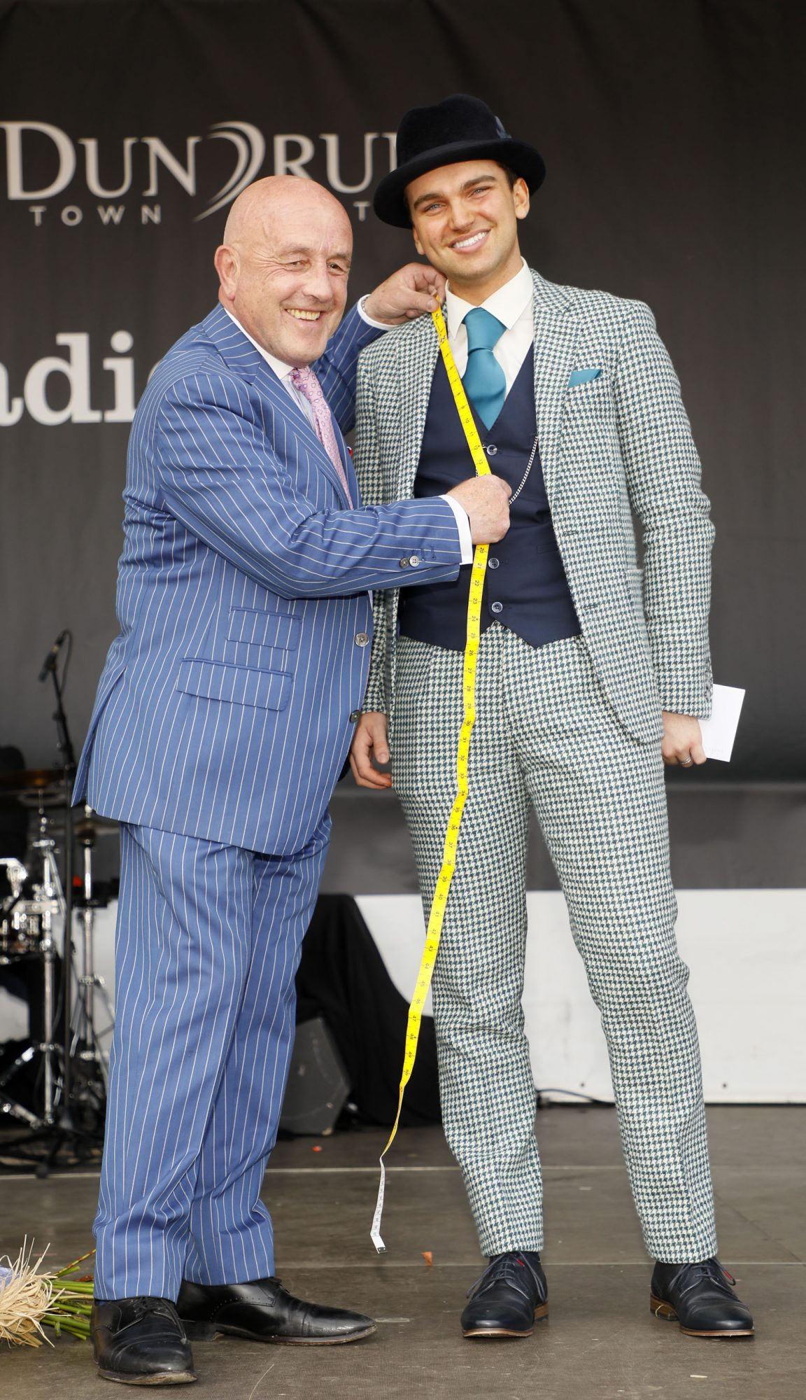 Winner of the Louis Copeland best dressed man prize Luke Gibbons from Claremorris, Co. Mayo at the Dublin Horse Show in the RDS. Photo: Kieran Harnett