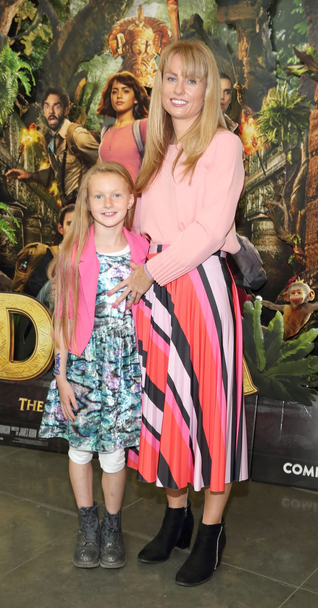 Sylvia Malanaphy and Mia Malanaphy at the special preview screening of Dora and the Lost City of Gold at the Odeon Cinema in Point Square,Dublin. Pic Brian McEvoy Photography