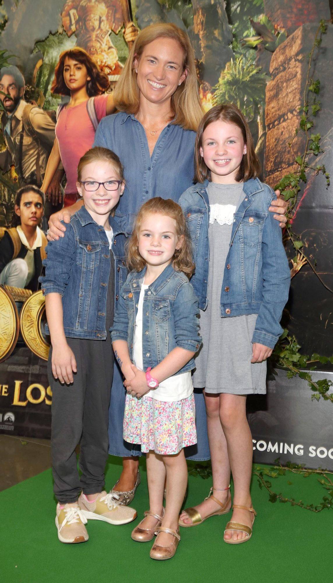 Paula Shevlin, Isabelle Shevlin, Grace Shevlin and Emily Shevlin  at the special preview screening of Dora and the Lost City of Gold at the Odeon Cinema in Point Square,Dublin. Pic Brian McEvoy Photography
