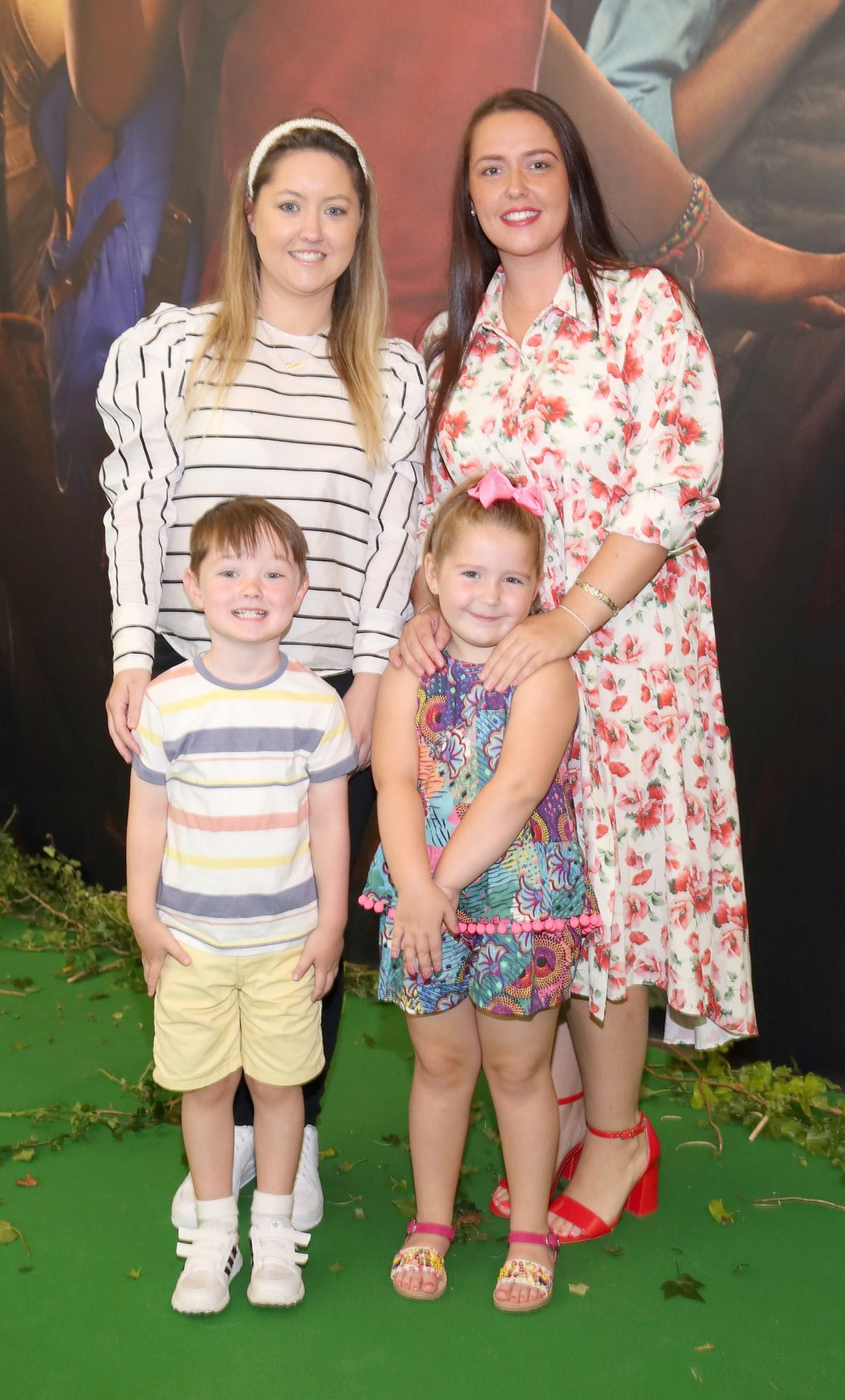 Leah Skerrett, Tara McMahon, George Carroll and Freya Gavin at the special preview screening of Dora and the Lost City of Gold at the Odeon Cinema in Point Square,Dublin. Pic Brian McEvoy Photography