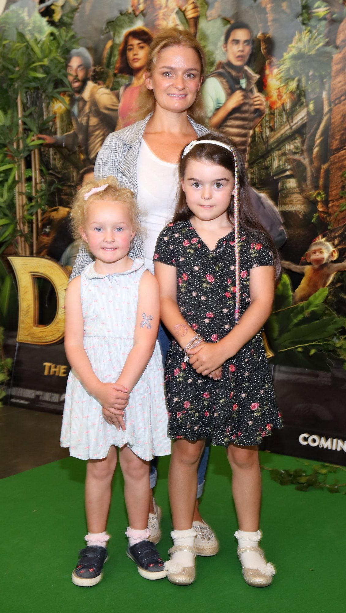 Caitriona Henry, Cara Henry and Siofra Henry at the special preview screening of Dora and the Lost City of Gold at the Odeon Cinema in Point Square,Dublin. Pic Brian McEvoy Photography