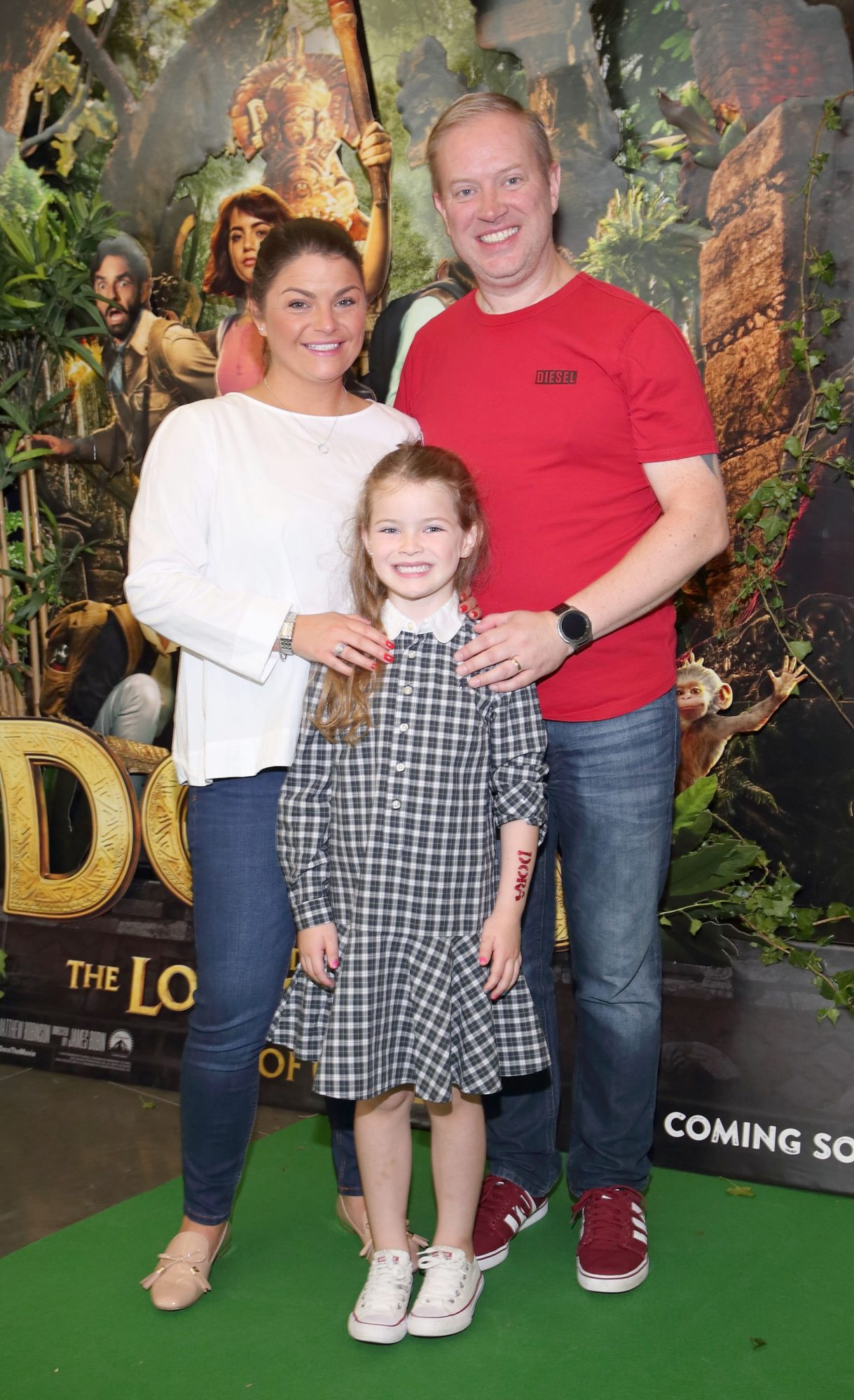 Lauren Nolan, Colin Nolan and Amber Nolan at the special preview screening of Dora and the Lost City of Gold at the Odeon Cinema in Point Square,Dublin. Pic Brian McEvoy Photography