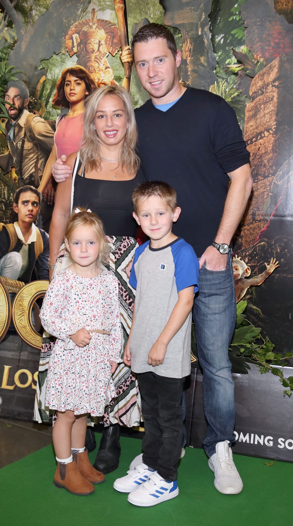 Jenny Breslin, Ultan Breslin, Seren Breslin and Davin Breslin at the special preview screening of Dora and the Lost City of Gold at the Odeon Cinema in Point Square,Dublin. Pic Brian McEvoy Photography